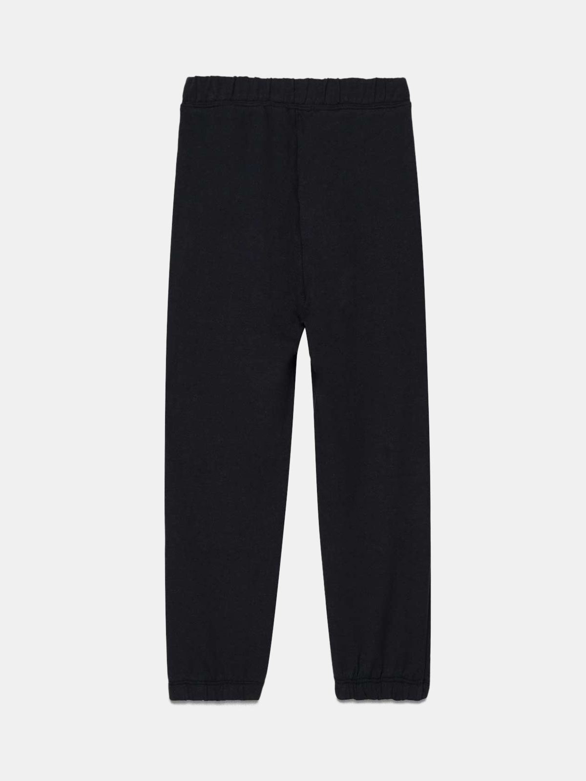 Golden Goose - Dark blue Golden joggers with contrasting white logo in