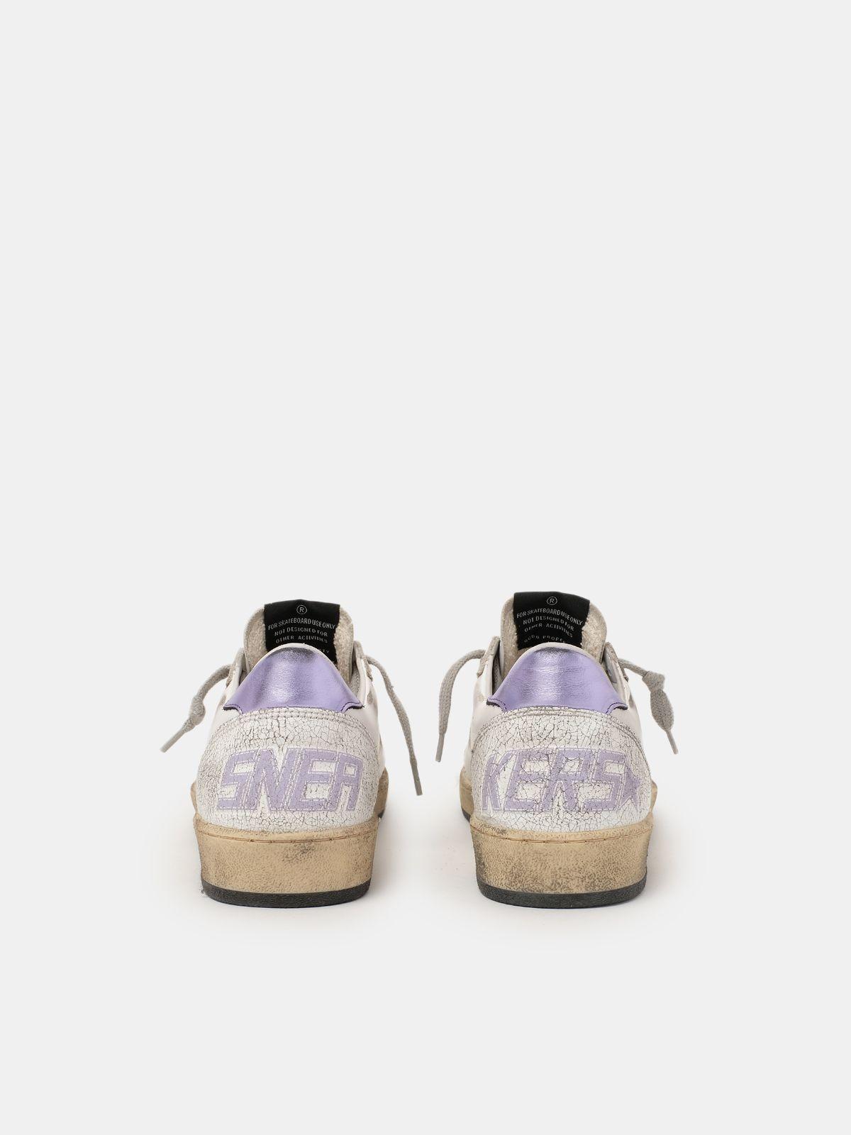Golden Goose - Sneakers Ball Star con glitter viola   in