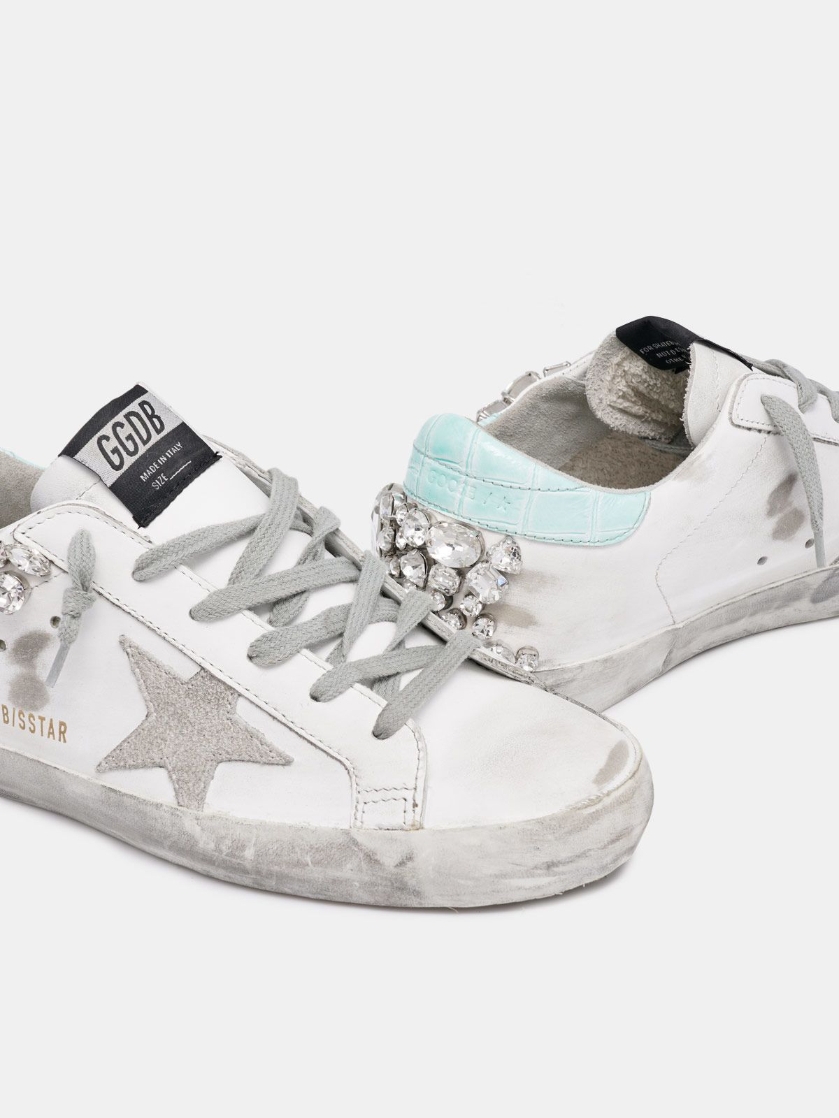 Golden Goose - Sneakers Super-Star con cristalli sul retro   in