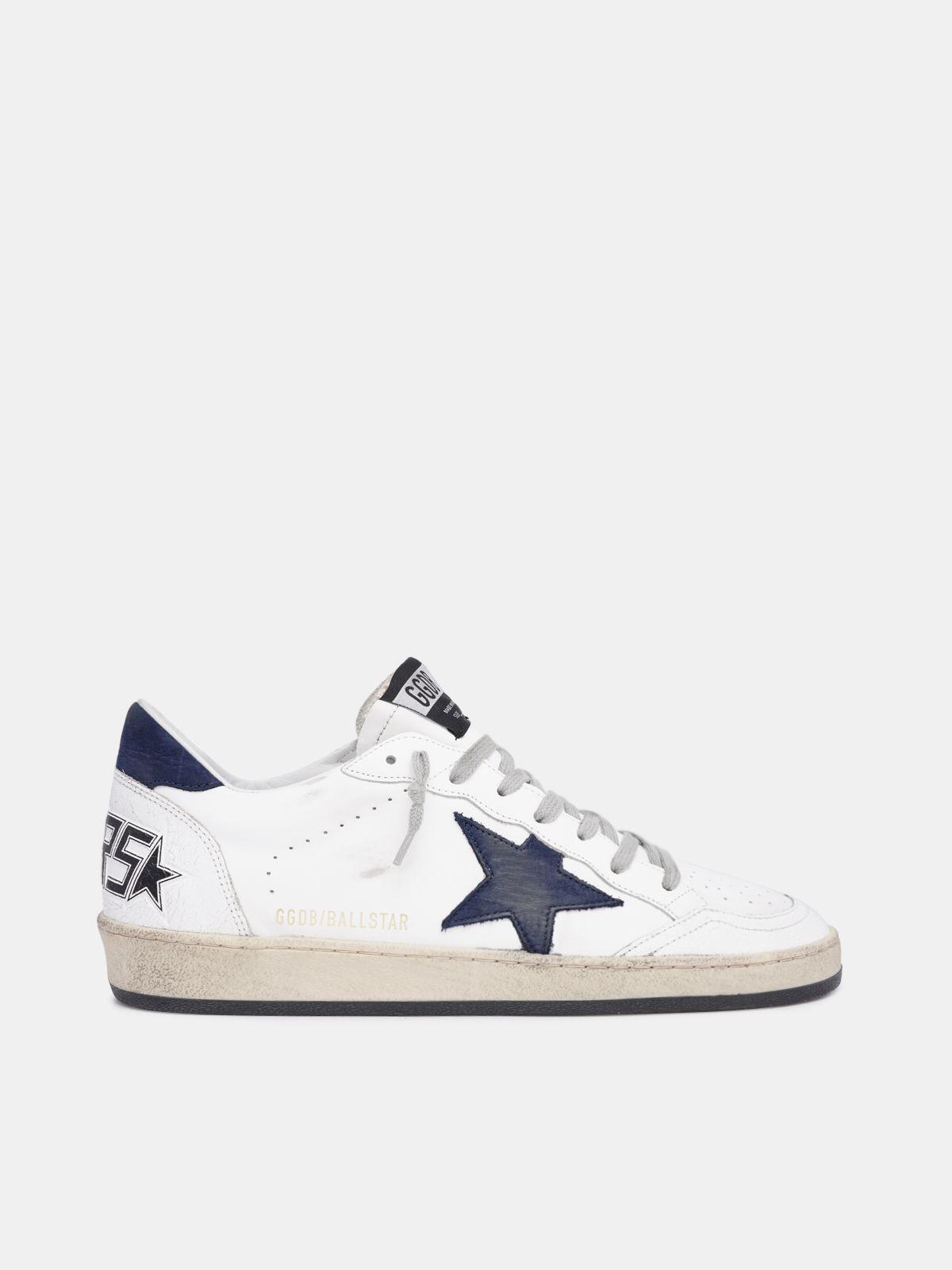 Sneakers Ball Star blancas con estrella azul