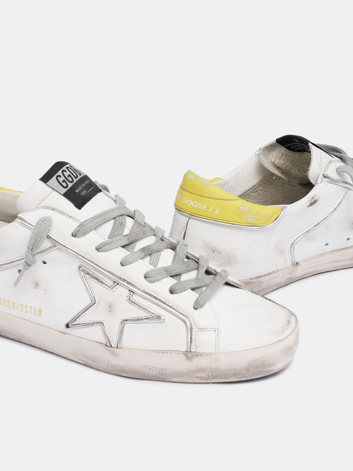 Golden Goose - Super-Star sneakers with silver piping   in