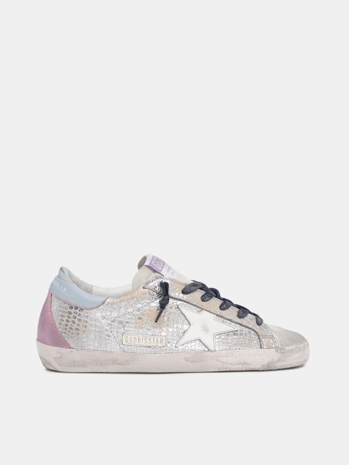 Golden Goose - Super-Star sneakers in metallic leather in