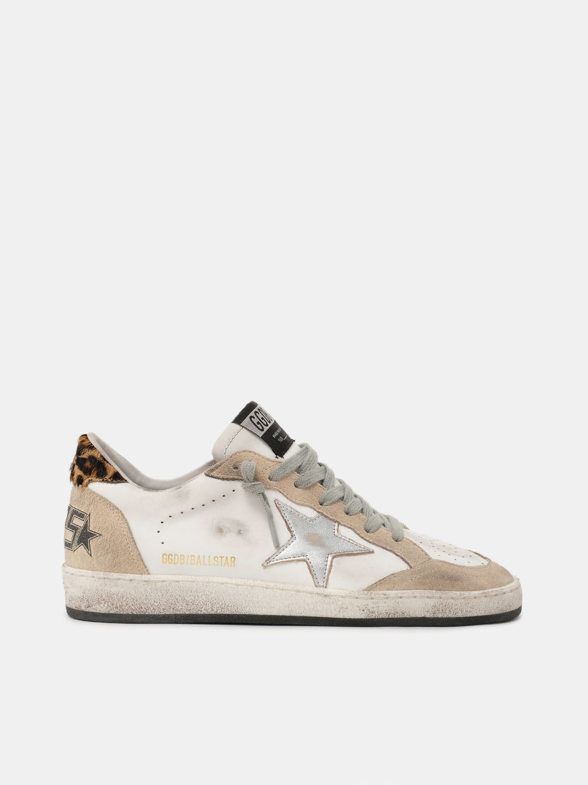Sneakers Ball Star con talloncino leopardato