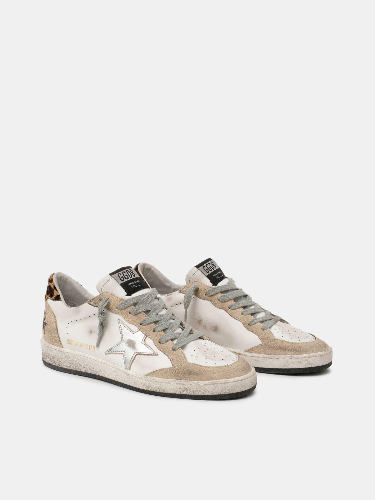 Golden Goose - Sneakers Ball Star con talloncino leopardato in