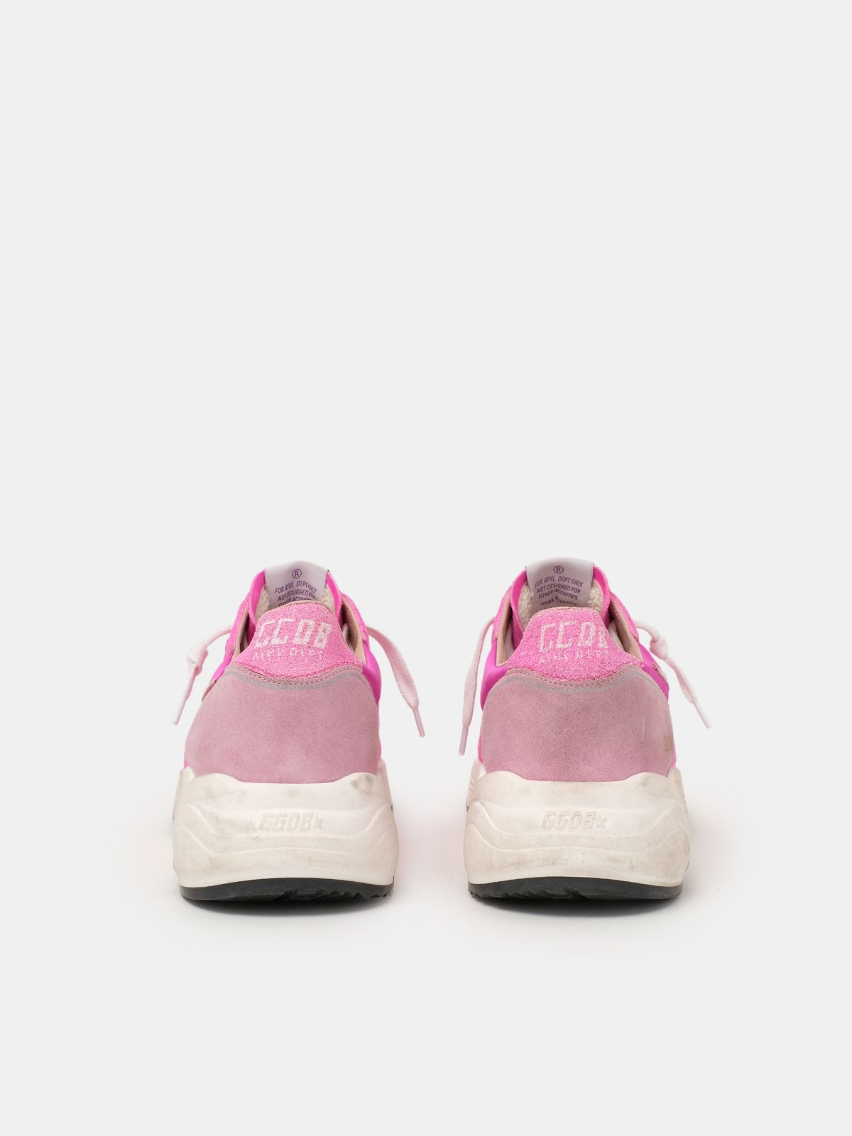 Golden Goose - Fuchsia and pink Running Sole sneakers in