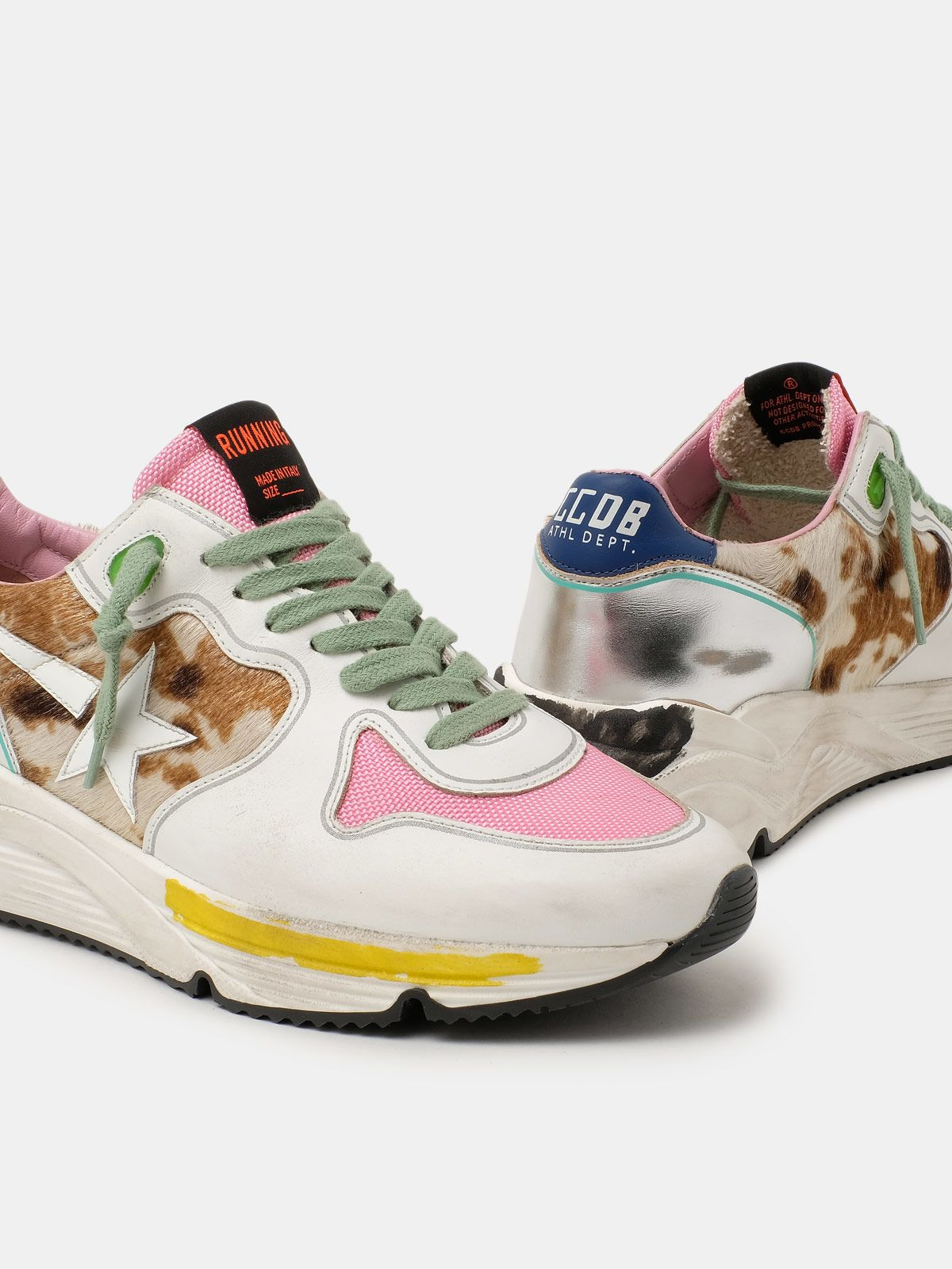 Golden Goose - Sneakers Running Sole con inserto animalier in