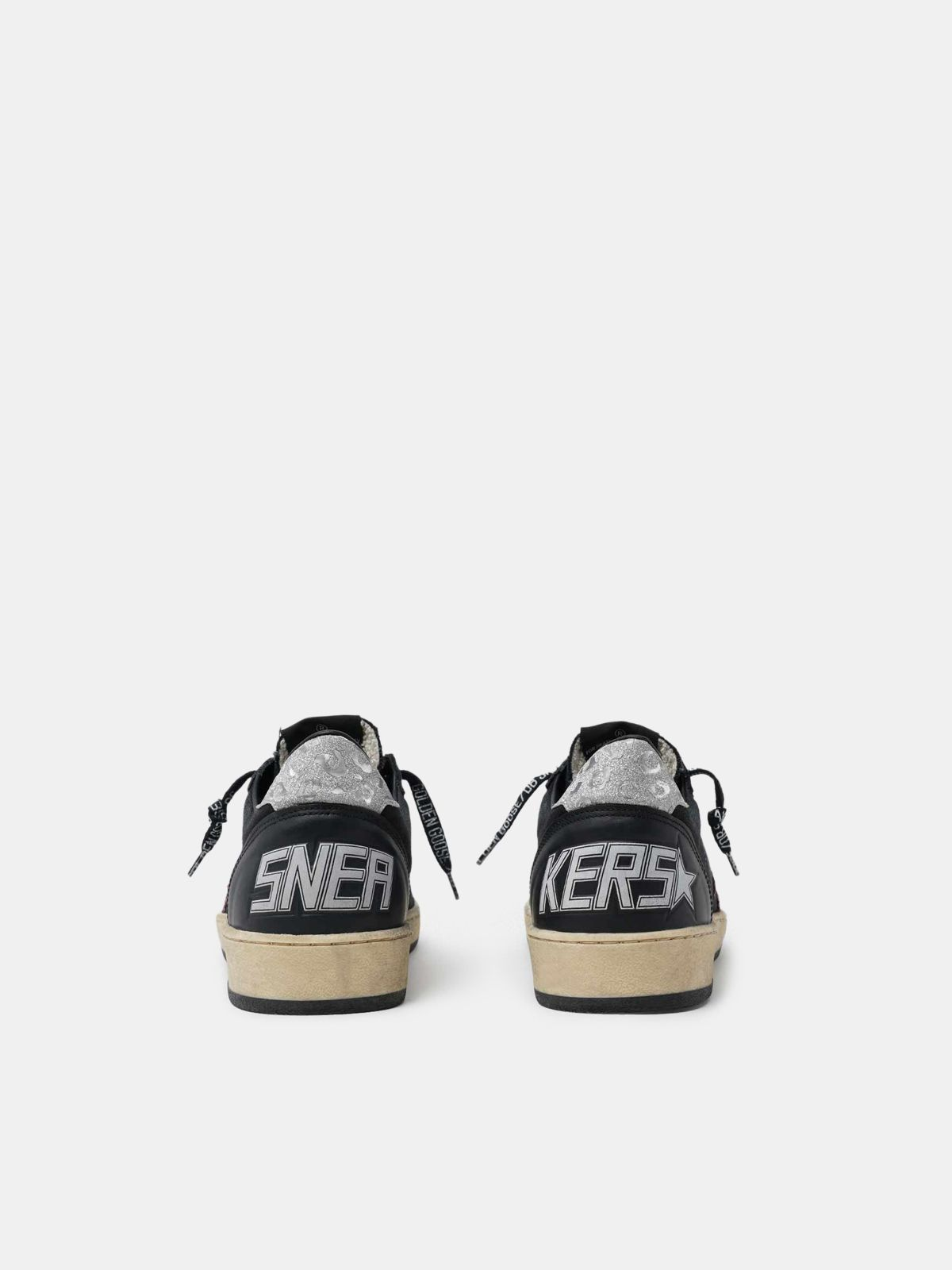 Golden Goose - Black Ball Star sneakers with glittery purple star   in