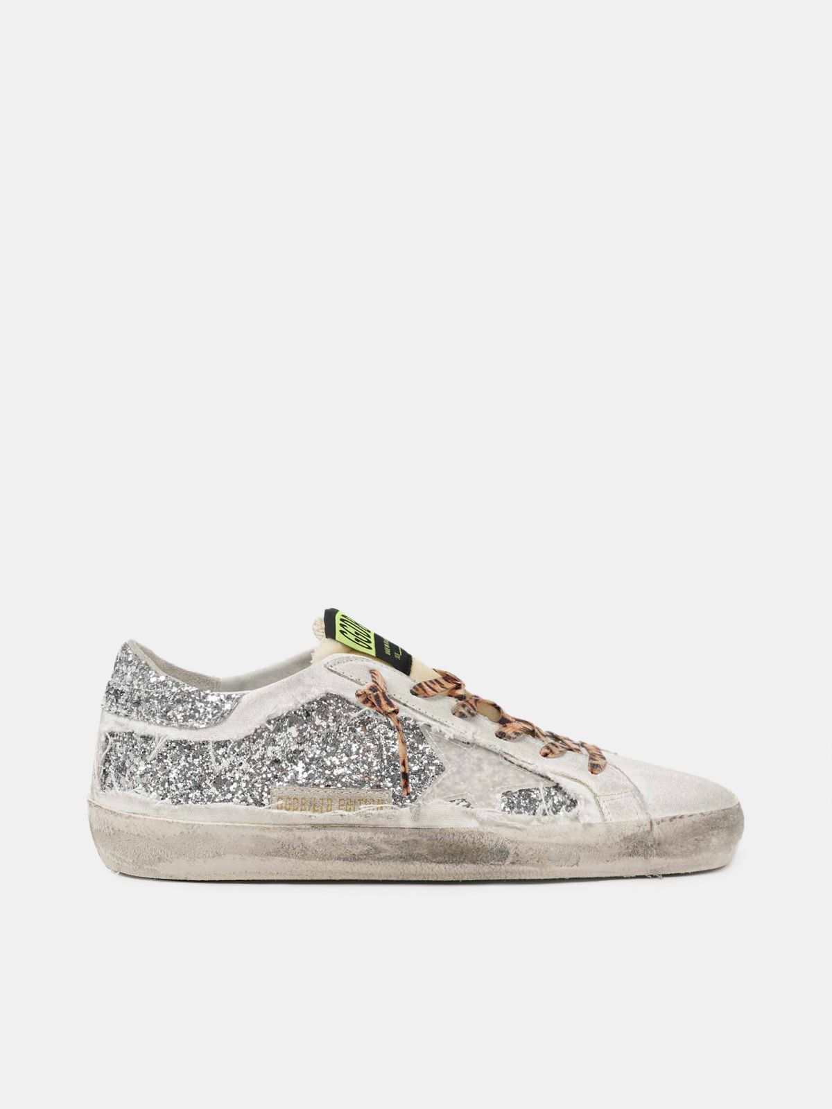 Golden Goose - Men's Limited Edition LAB Super-Star sneakers with glitter and leopard-print laces in