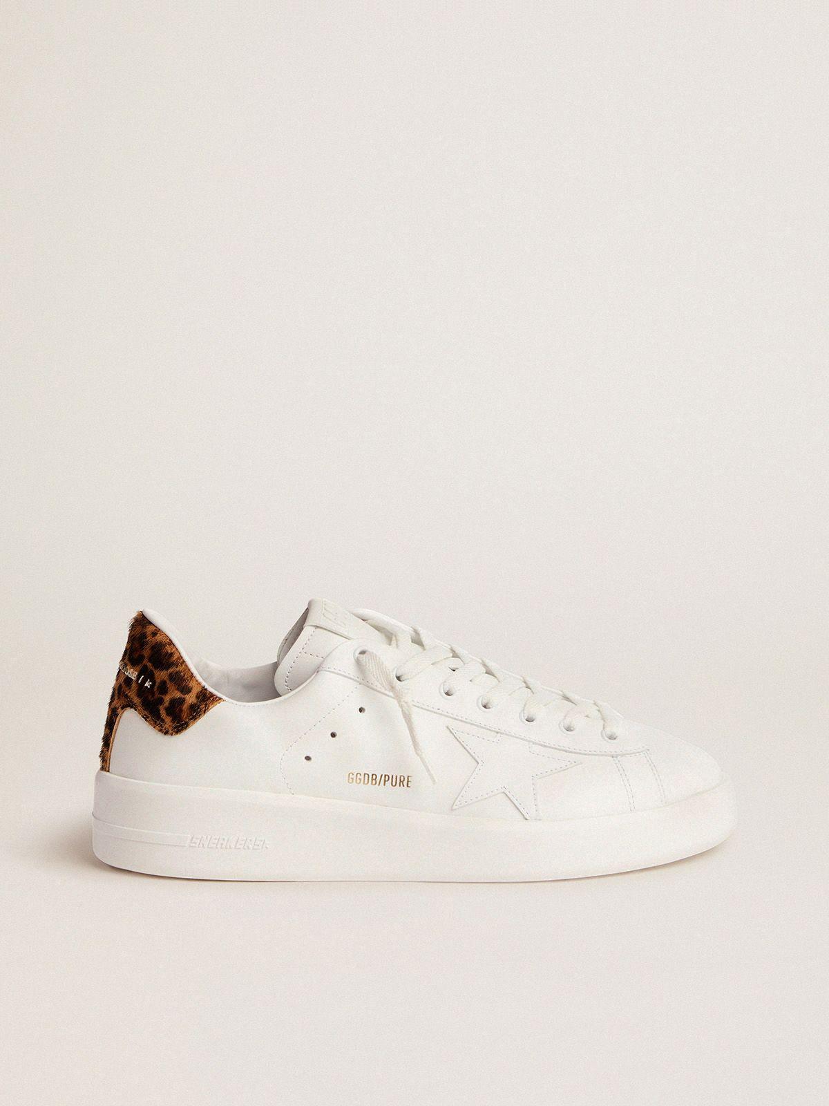 Men's PURESTAR sneakers with leopard-print heel tab