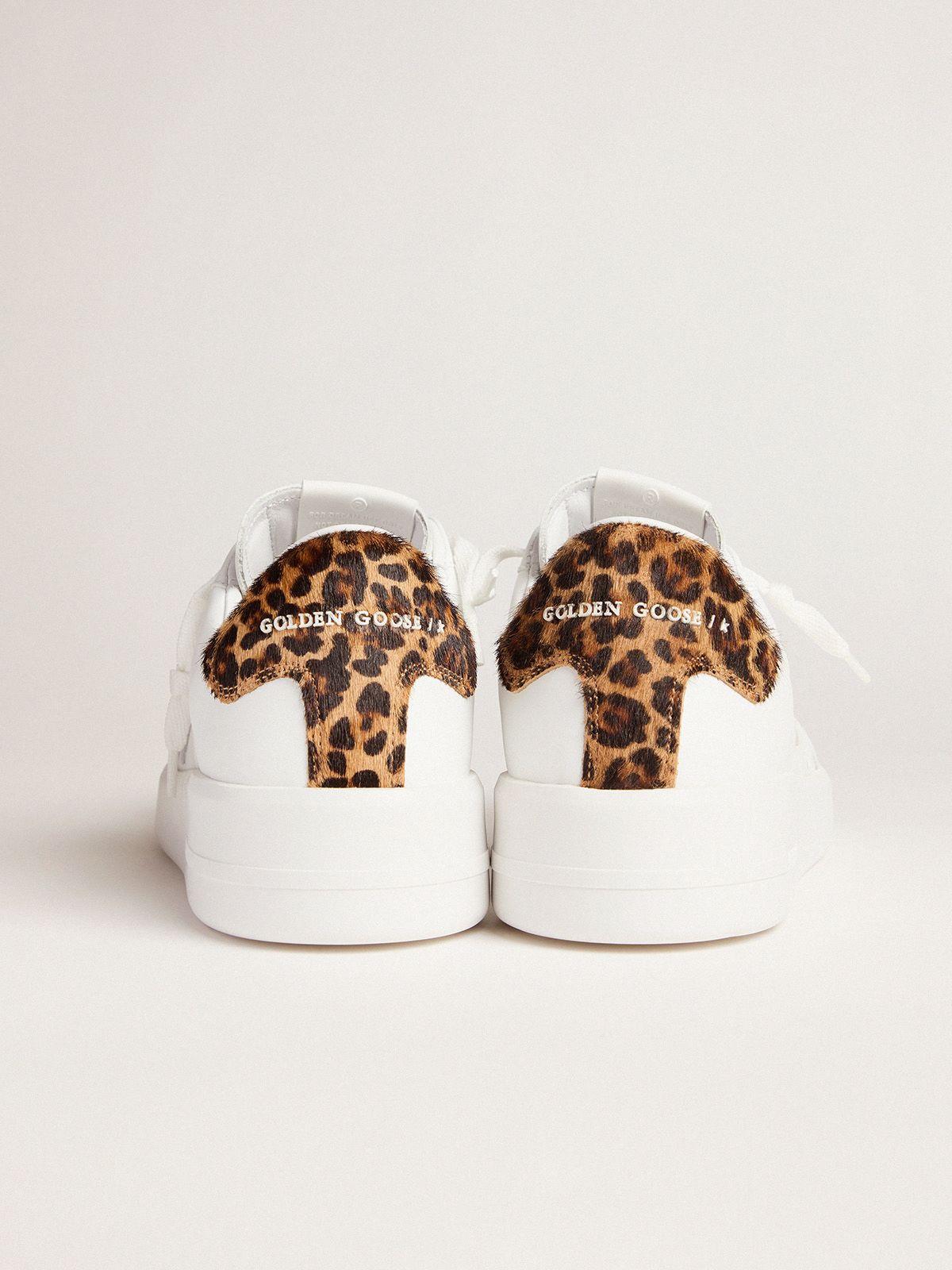 Golden Goose - Men's PURESTAR sneakers with leopard-print heel tab in