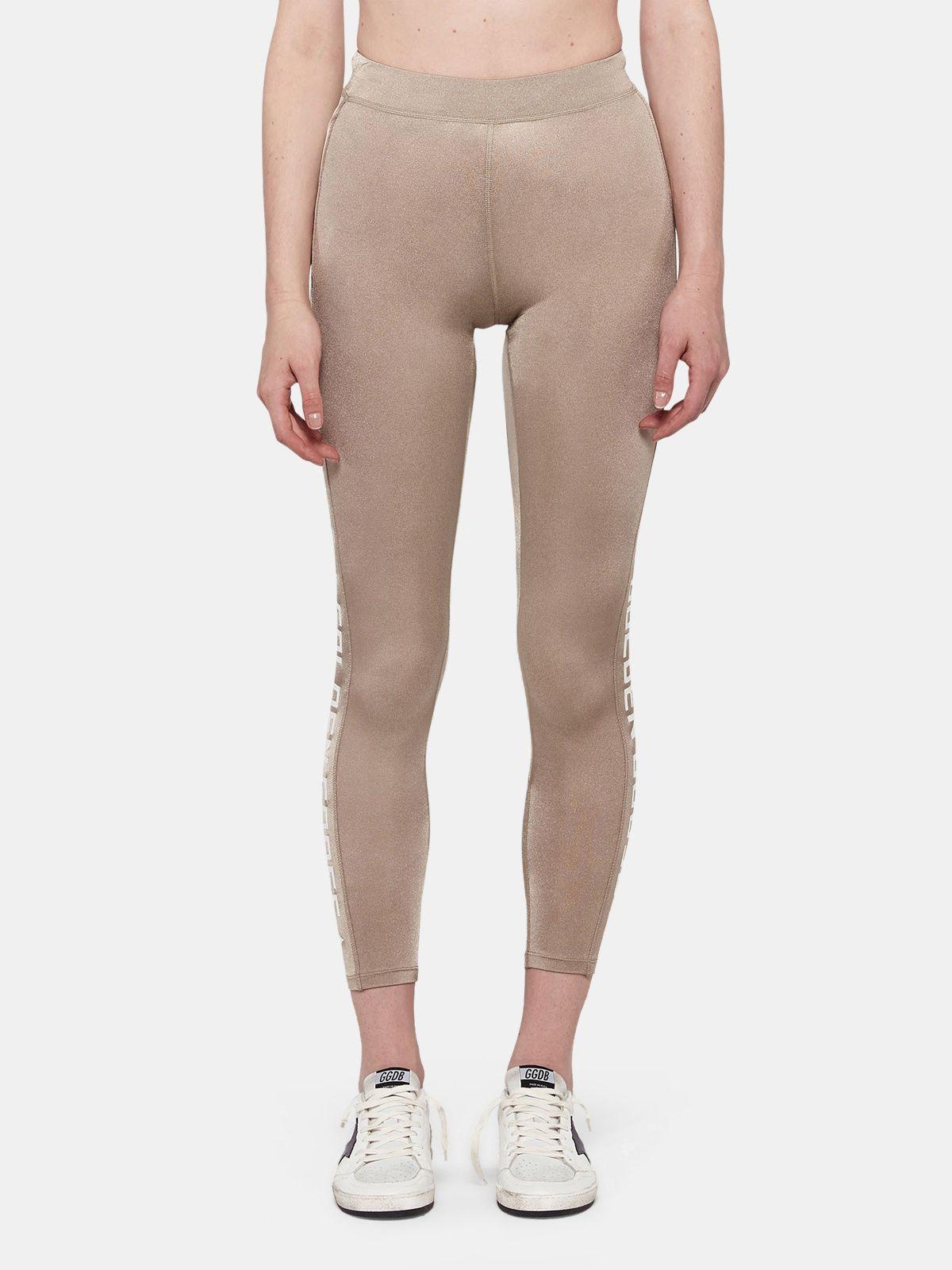 Golden Goose - Nori leggings in technical fabric with printed logo in