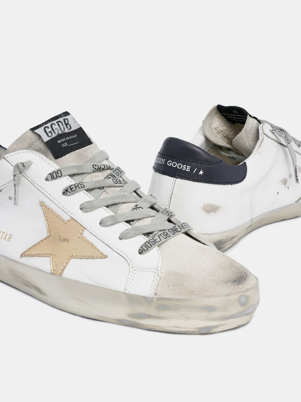 Golden Goose - Super-Star sneakers with gold star and laminated foxing in