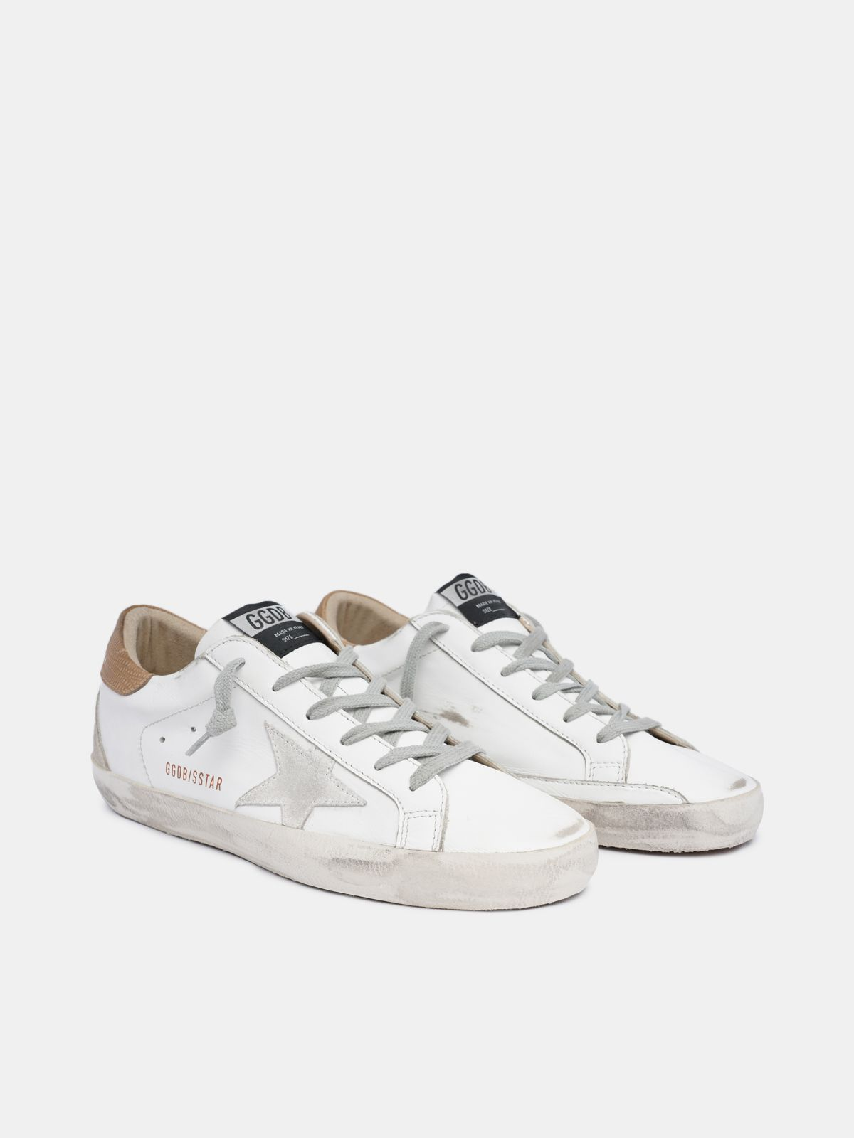 Golden Goose - Women's Super-Star sneakers with lizard-print heel tab in