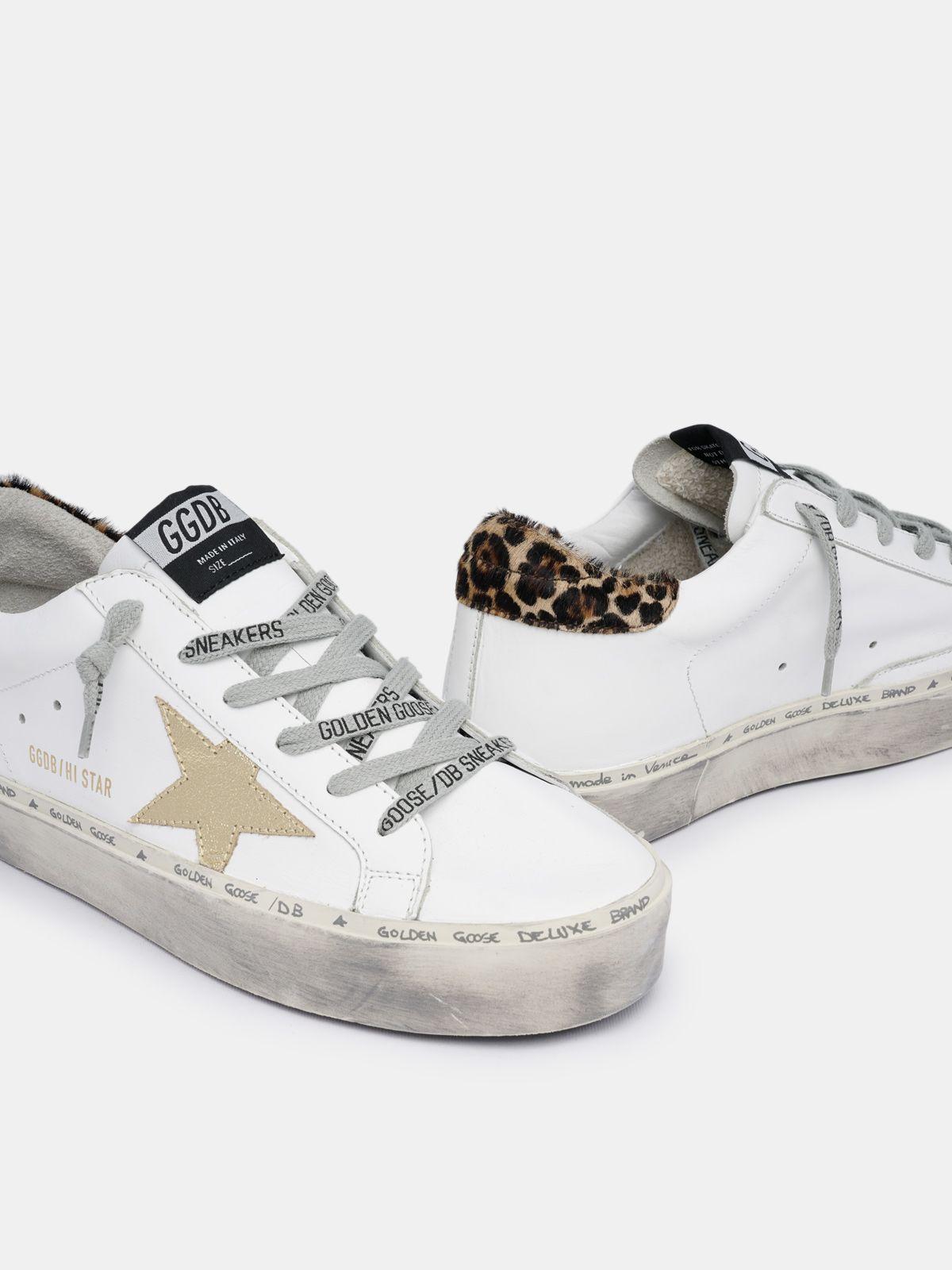 Golden Goose - Hi Star sneakers with leopard-print heel tab in