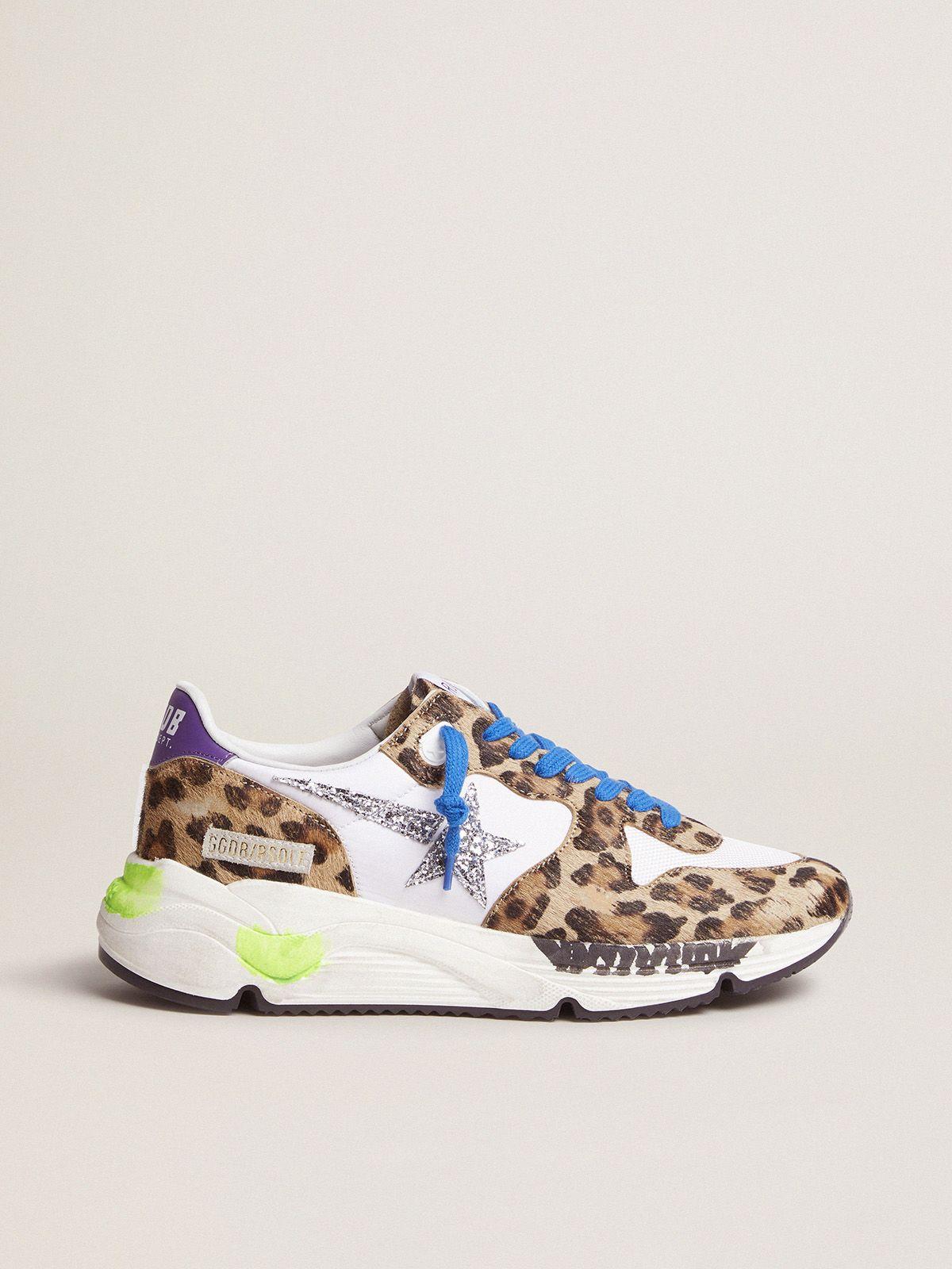 Sneakers Running Sole in cavallino leopardato