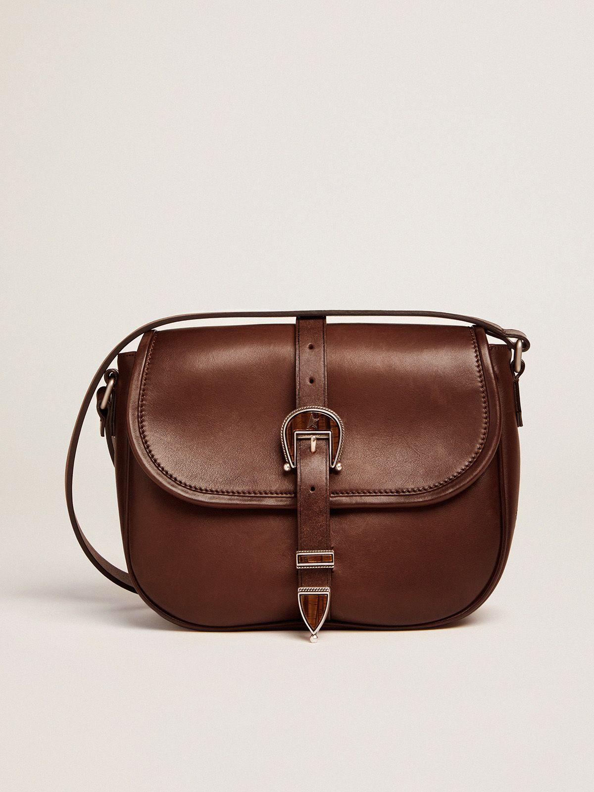 Golden Goose - Borsa Rodeo Bag medium in pelle cuoio scuro in