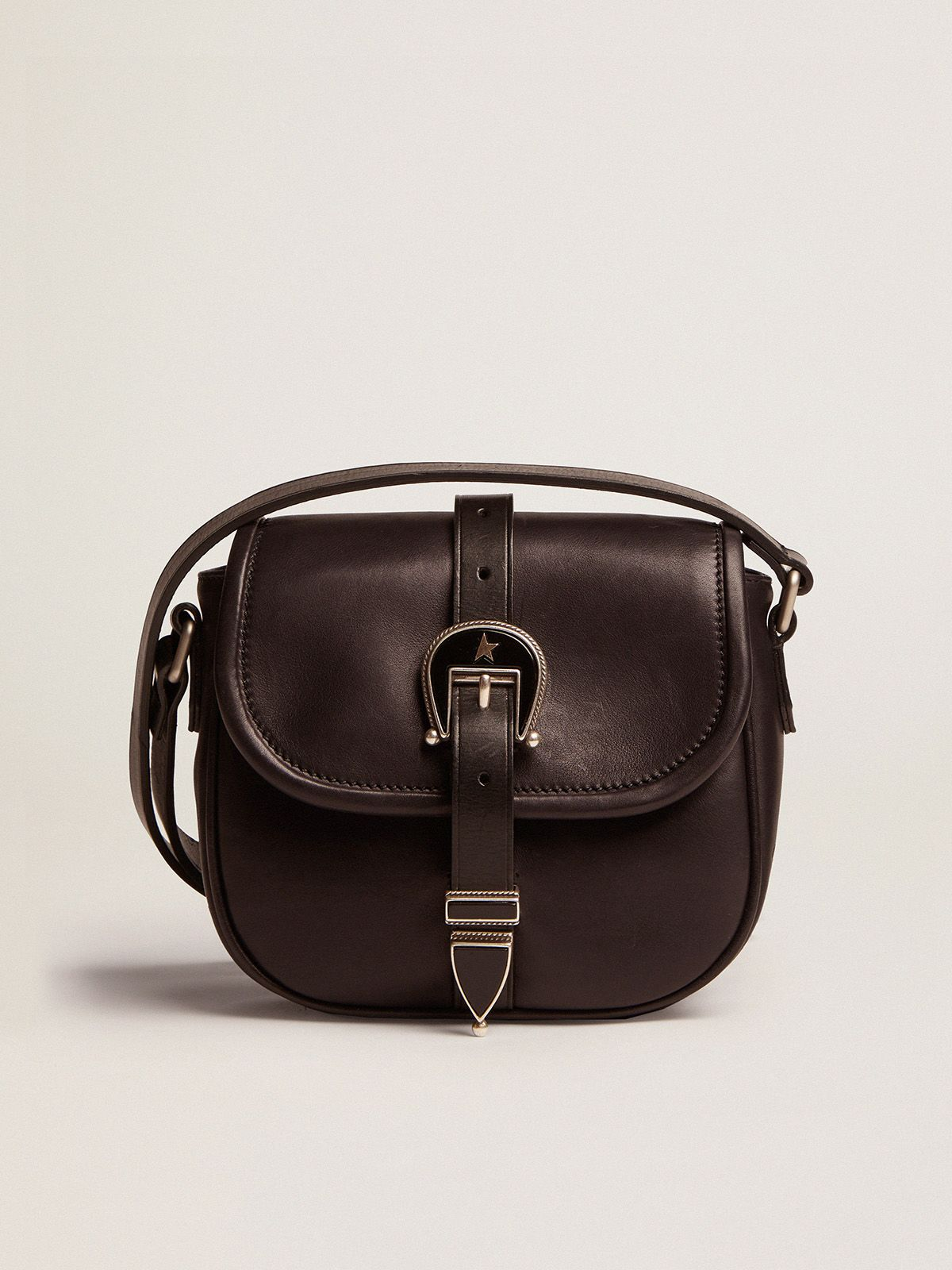 Golden Goose - Small black leather Rodeo Bag in