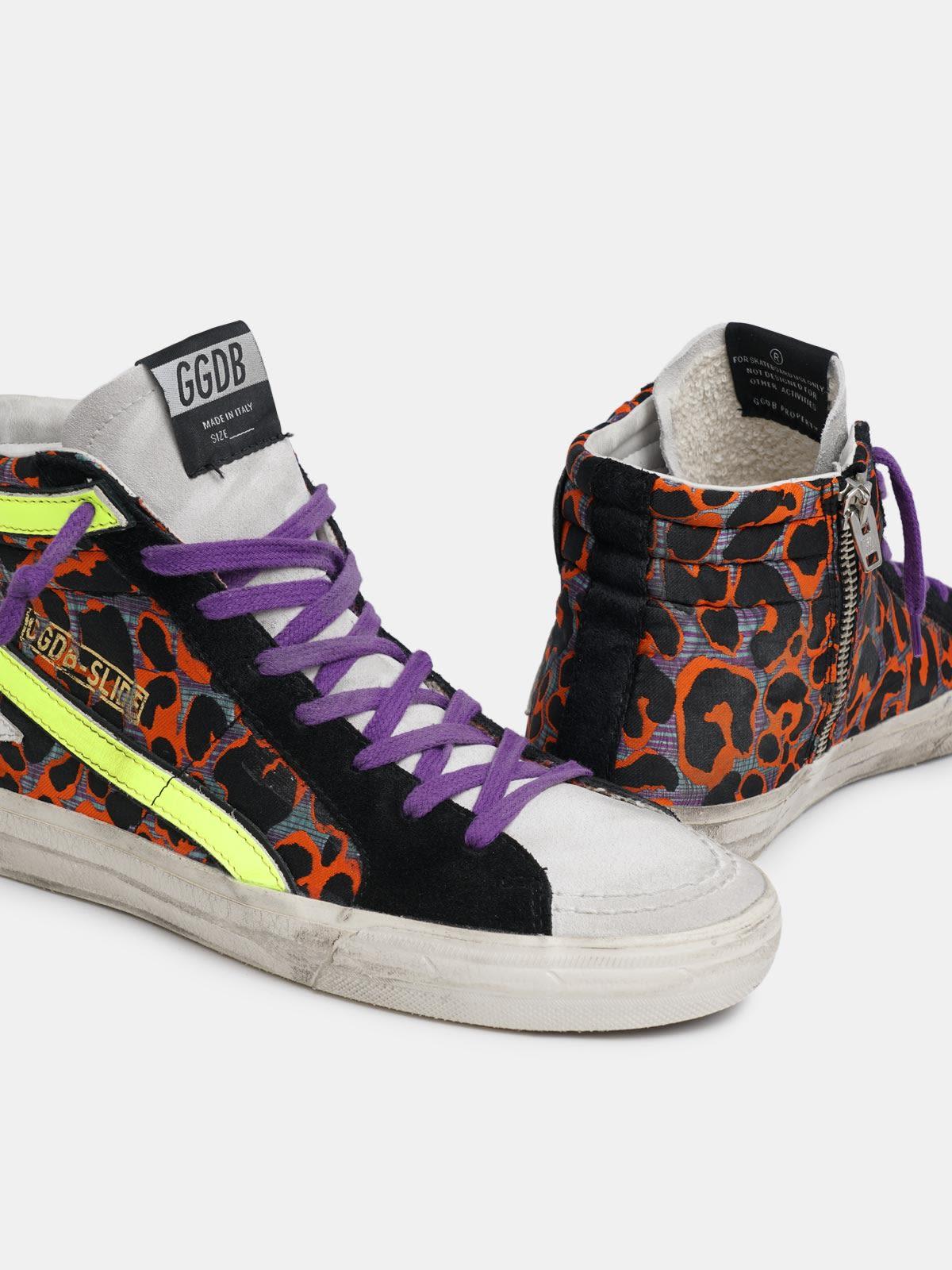 Golden Goose - Red leopard-print Slide sneakers in
