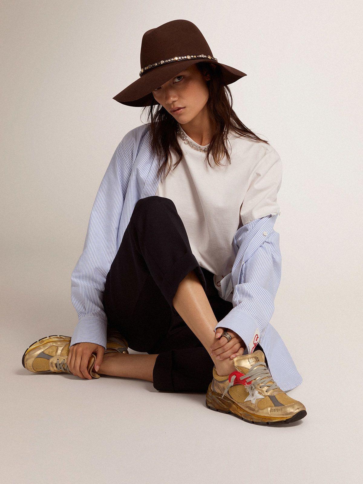 Golden Goose - Women's gold Dad-Star sneakers in