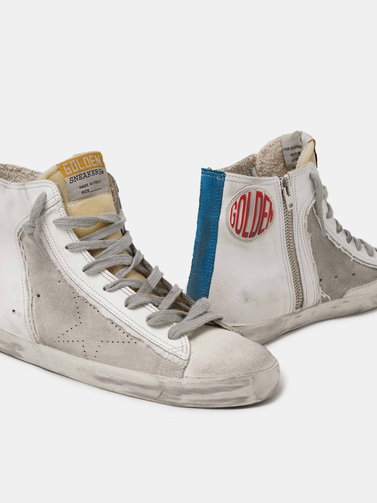 Golden Goose - Men's Limited Edition blue and white Francy sneakers in