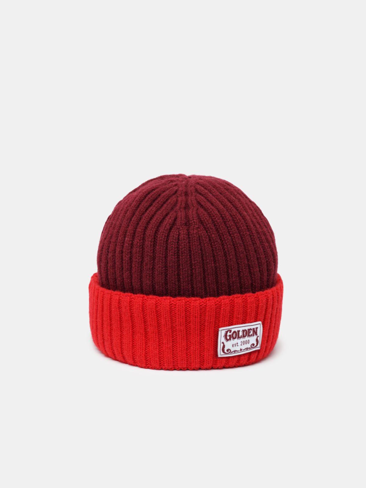 Bonnet Ansaldo rouge en laine