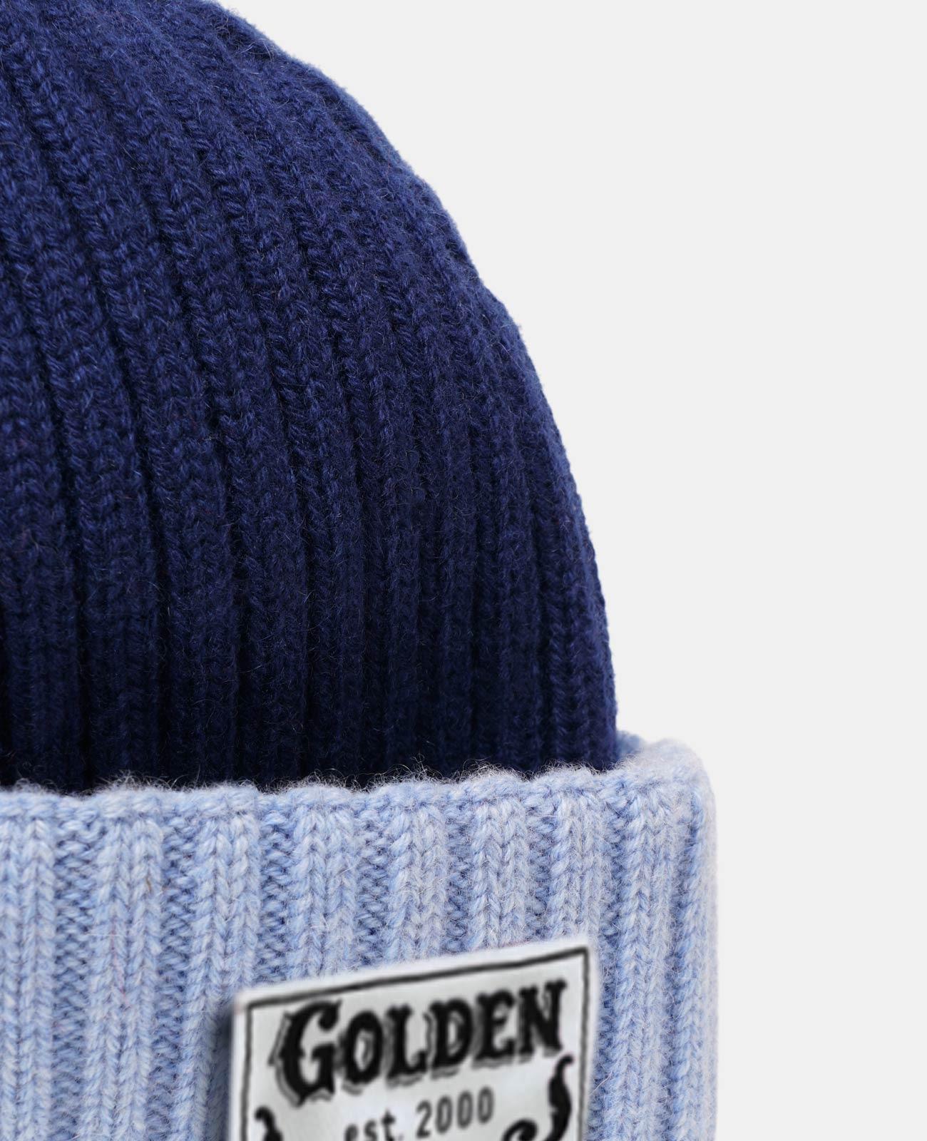 Golden Goose - Ansaldo blue wool beanie   in