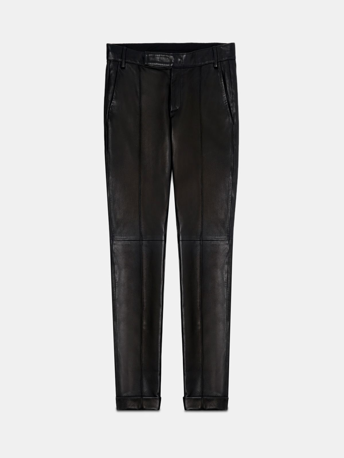 Golden Goose - Black Agathe trousers in nappa leather   in