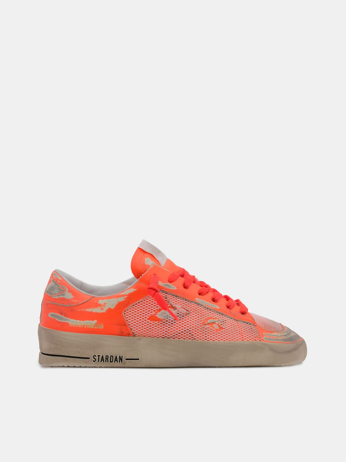 Golden Goose - Fluorescent orange Stardan sneakers in