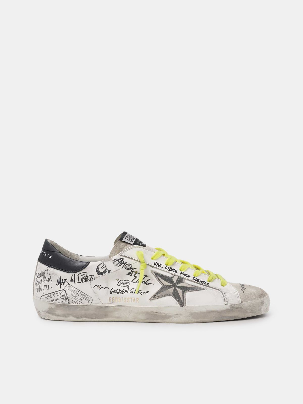 Men's Journey Super-Star sneakers with graffiti