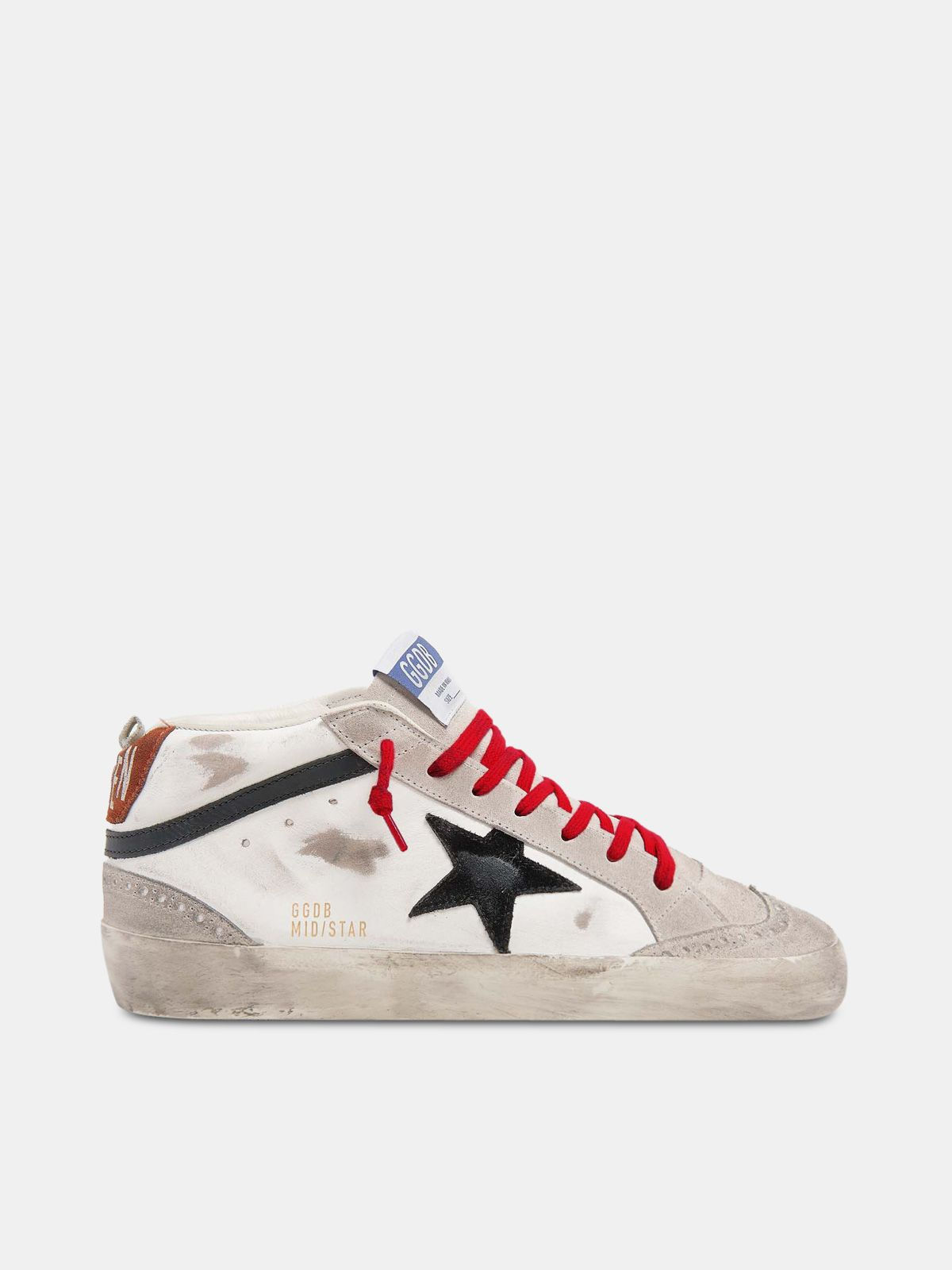 Mid Star sneakers in leather with suede star