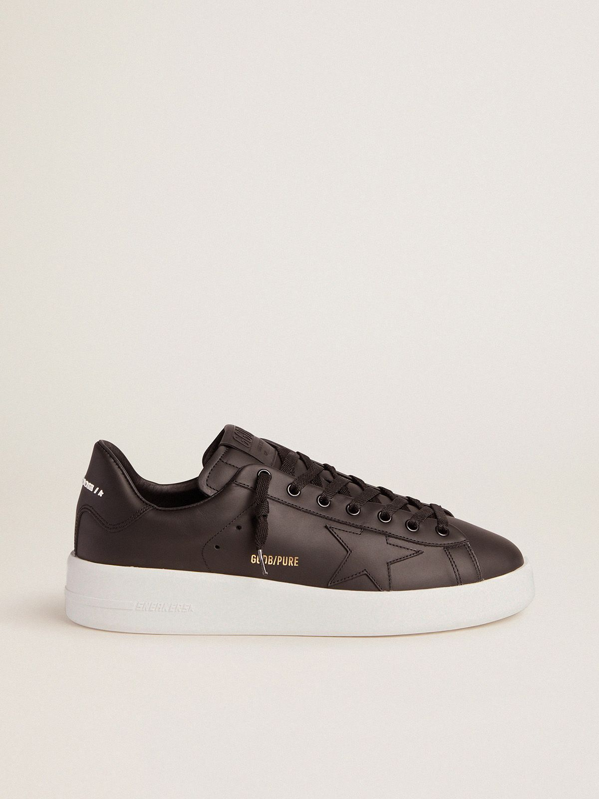 Black leather PURESTAR sneakers