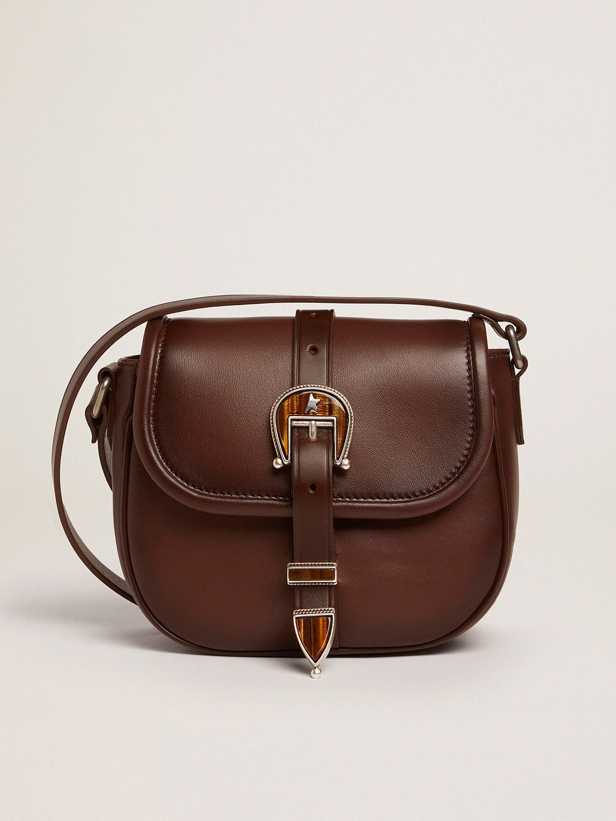 Small Rodeo Bag in dark tan leather