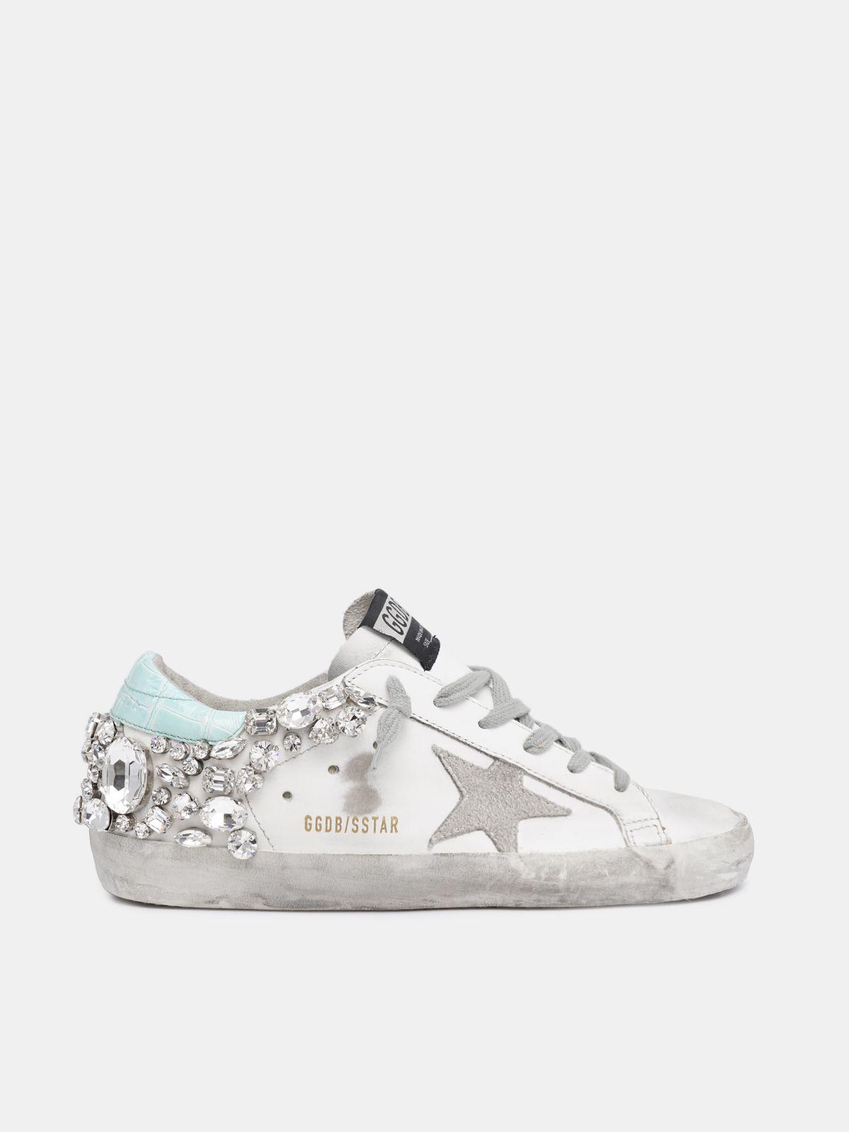 Sneakers Super-Star con cristalli sul retro