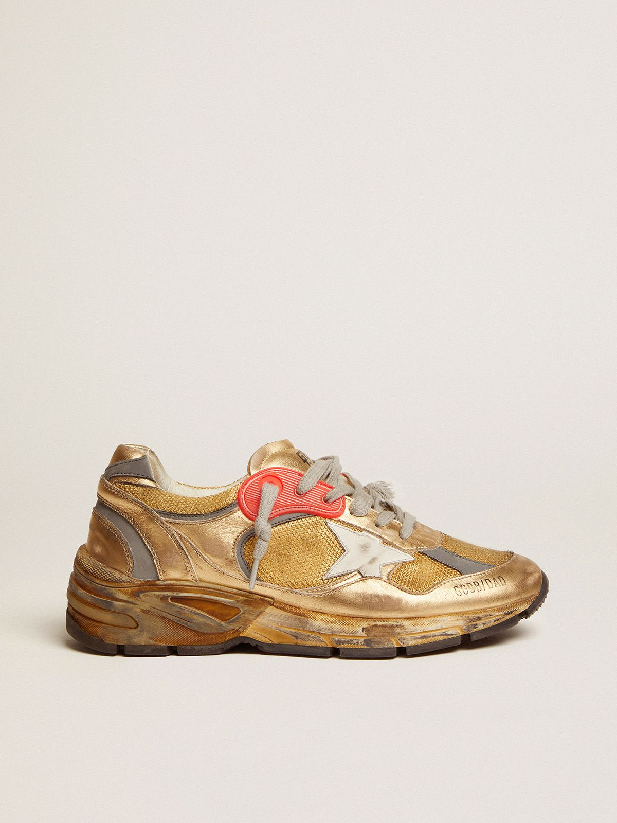Women's gold Dad-Star sneakers