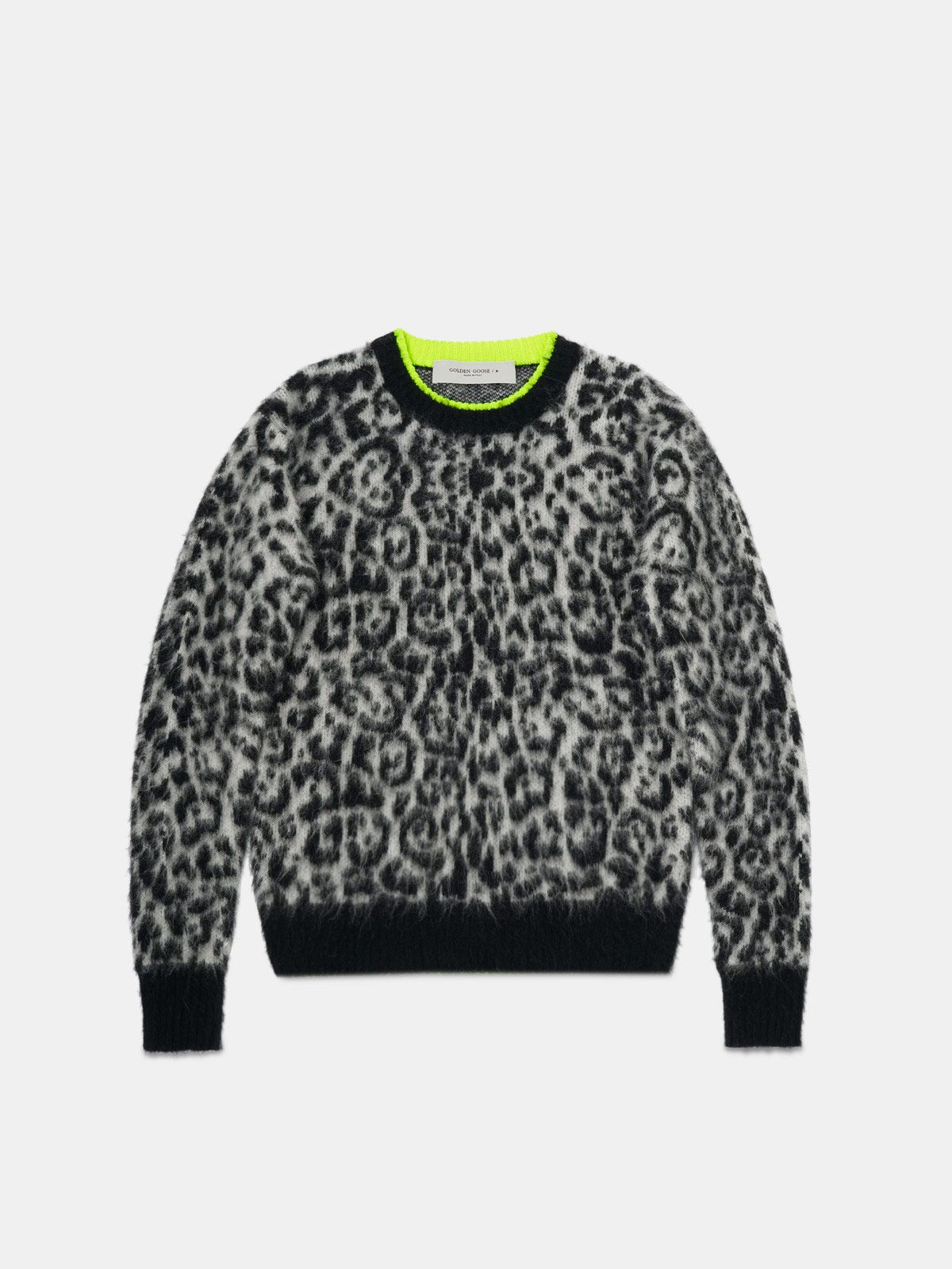 Andreina pullover with leopard pattern