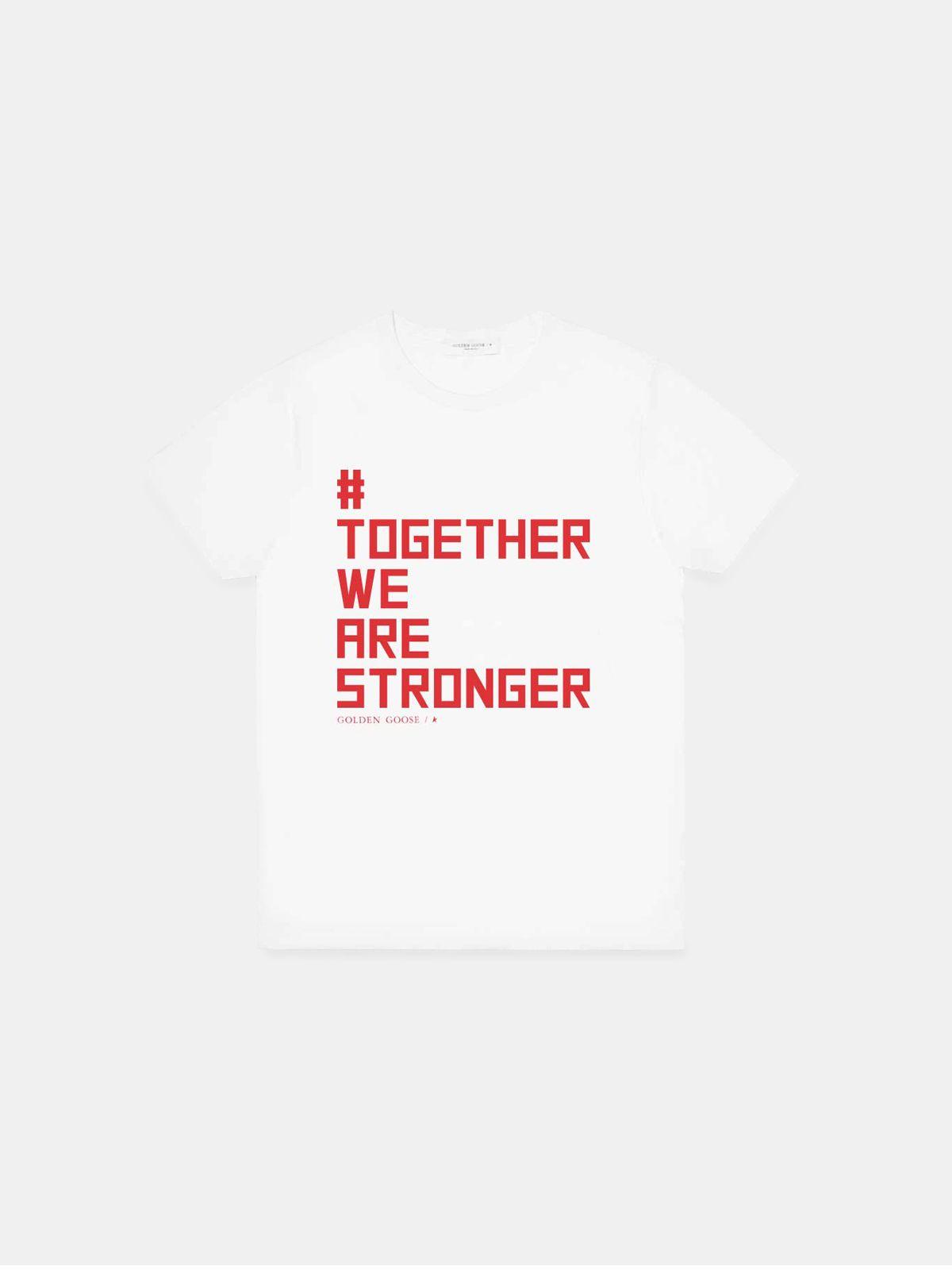 Golden Goose - T-shirt #TogetherWeAreStronger in