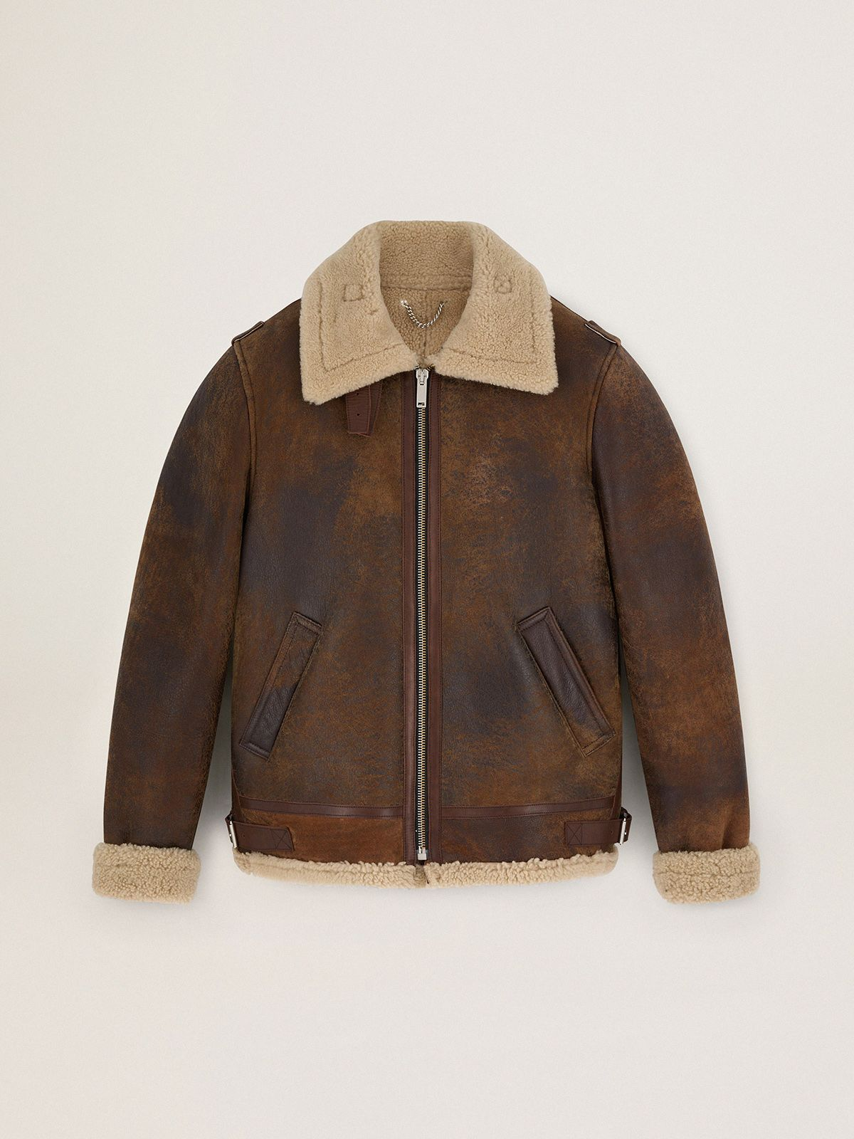 Arvel sheepskin jacket with shearling interior