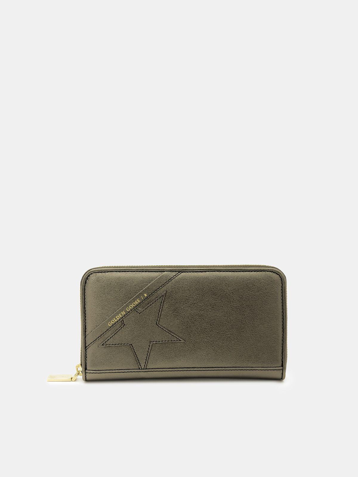 Portafoglio Star Wallet large verde laminato