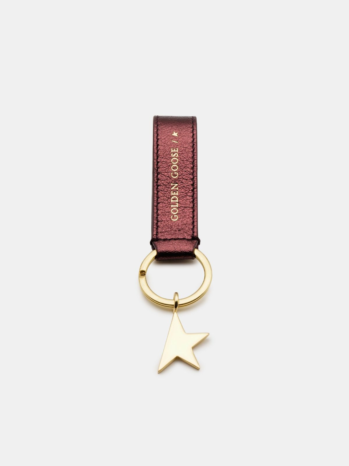 Metallic burgundy Star Keyring