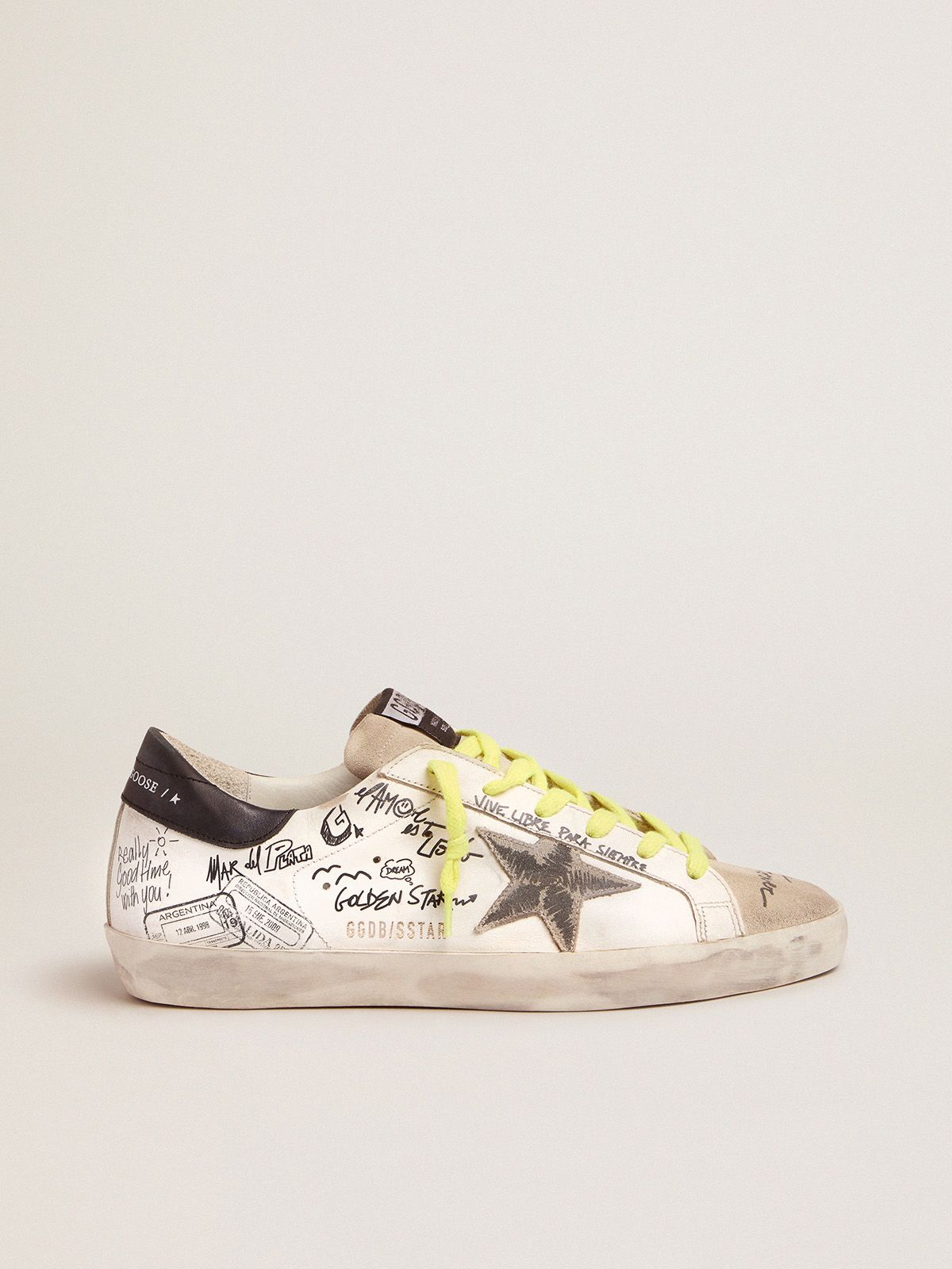 Golden Goose - Women's Journey Super-Star sneakers with graffiti in
