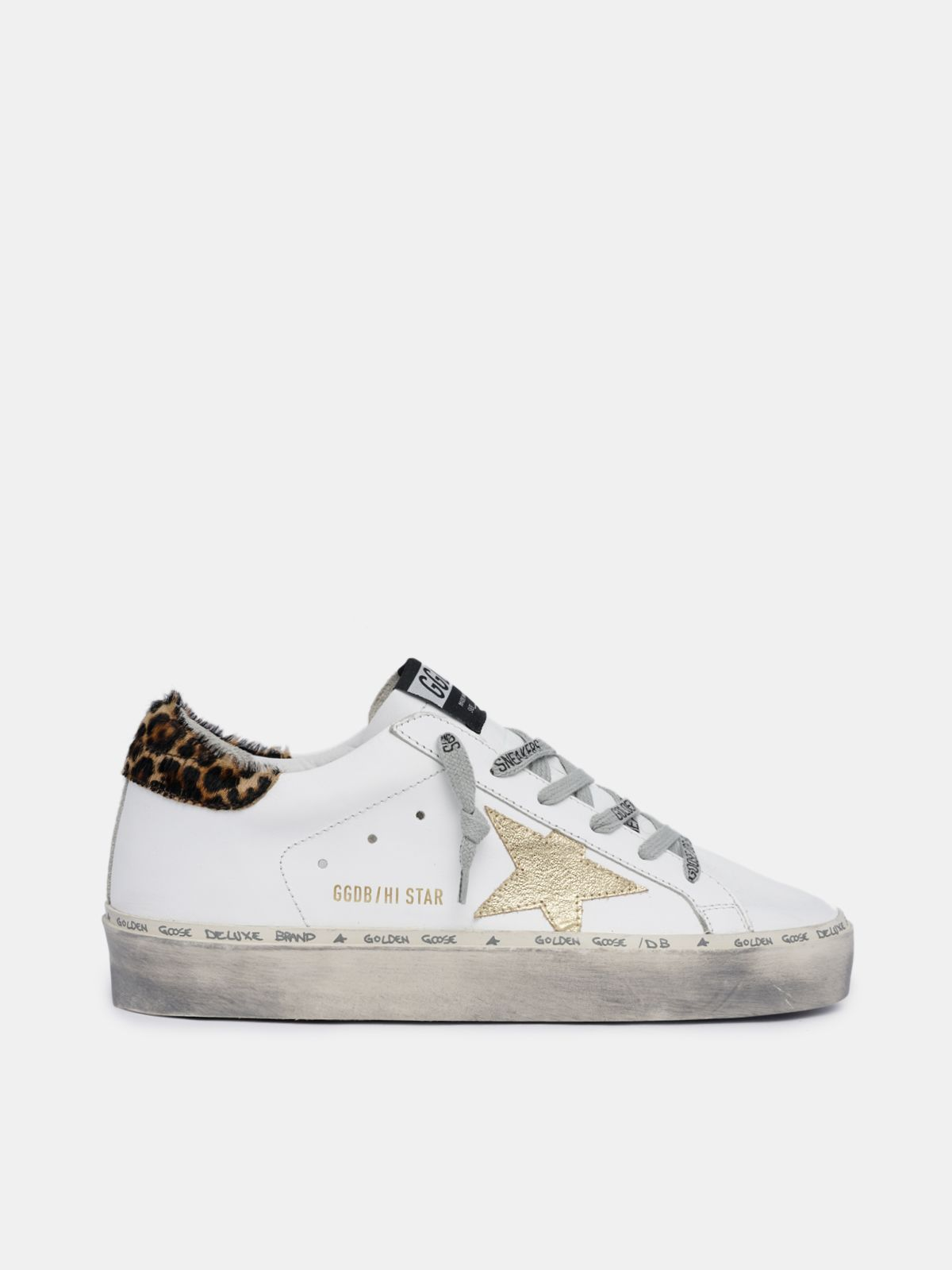 Hi Star sneakers with leopard-print heel tab