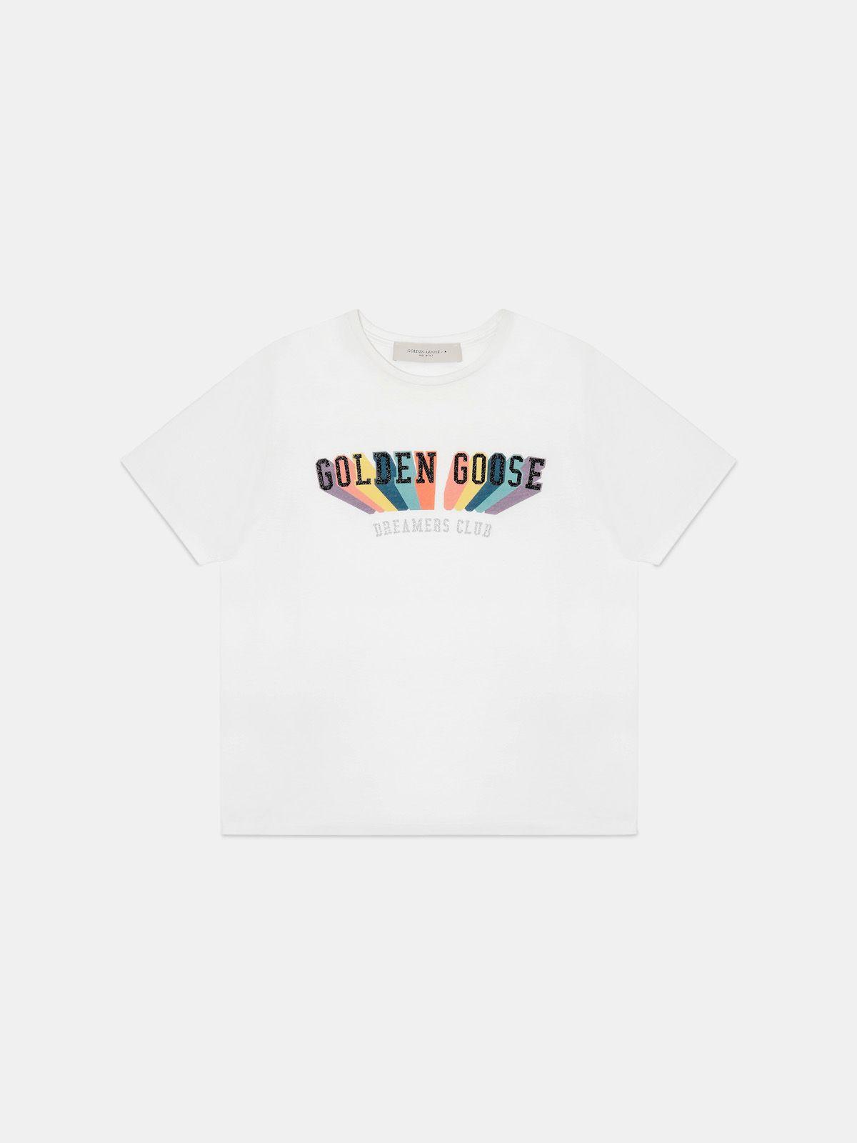 T-shirt with rainbow Golden print