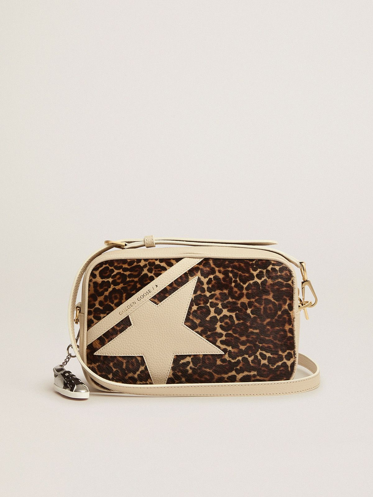 Off-white Star Bag with leopard-print pony skin insert