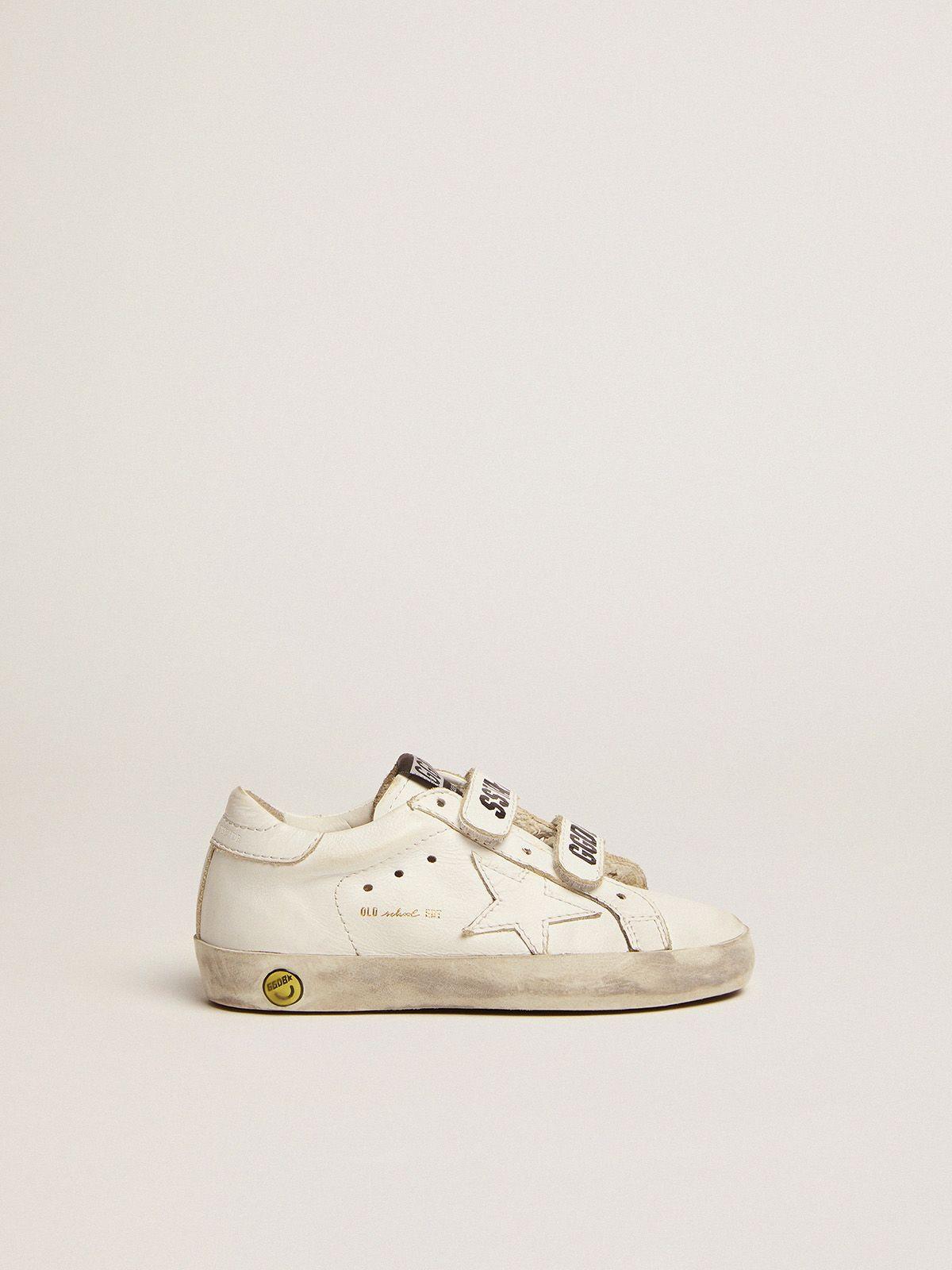 Golden Goose - Sneakers Old School bianco ottico con stella ton su ton in