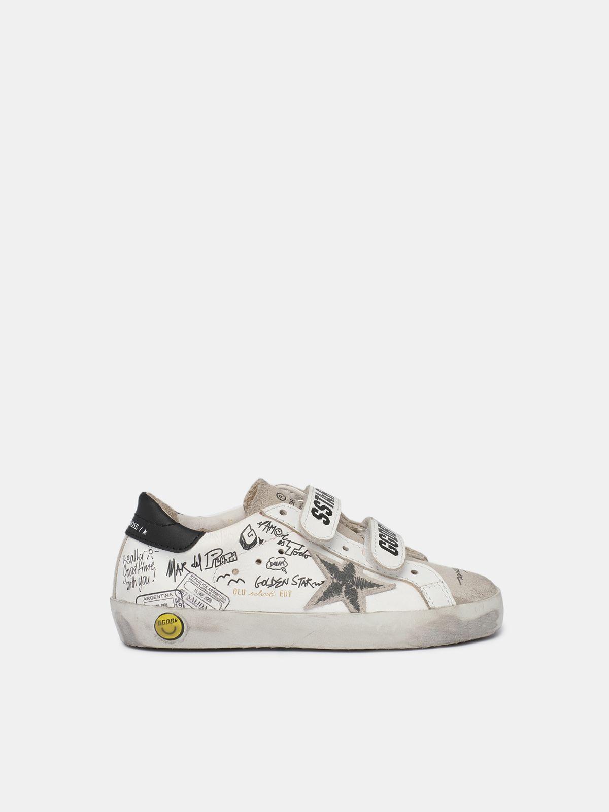 Golden Goose - Sneakers Francy con lacci fluo e disegni sulla tomaia in
