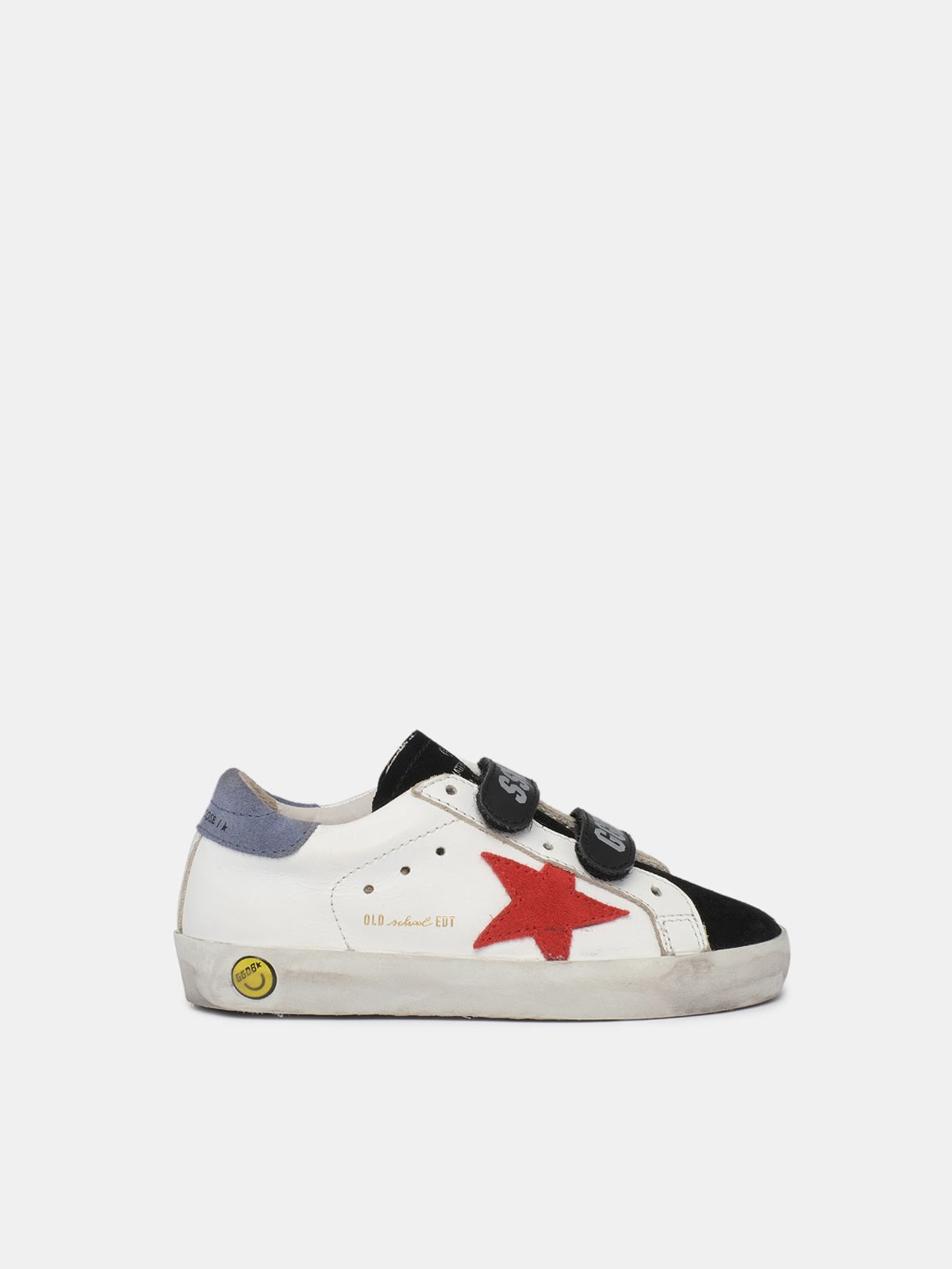 Golden Goose - Sneakers Old School bianche e nere con stella rossa in