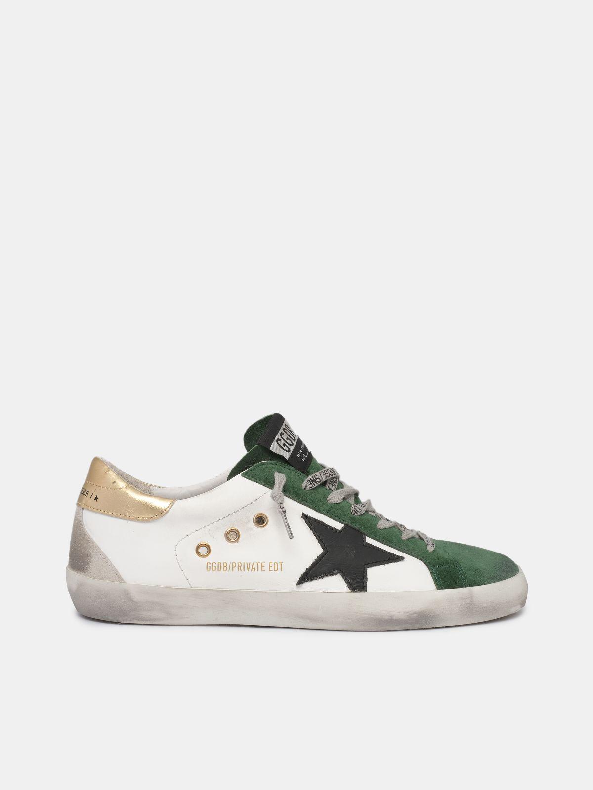Sneakers Super-Star bianche e verdi