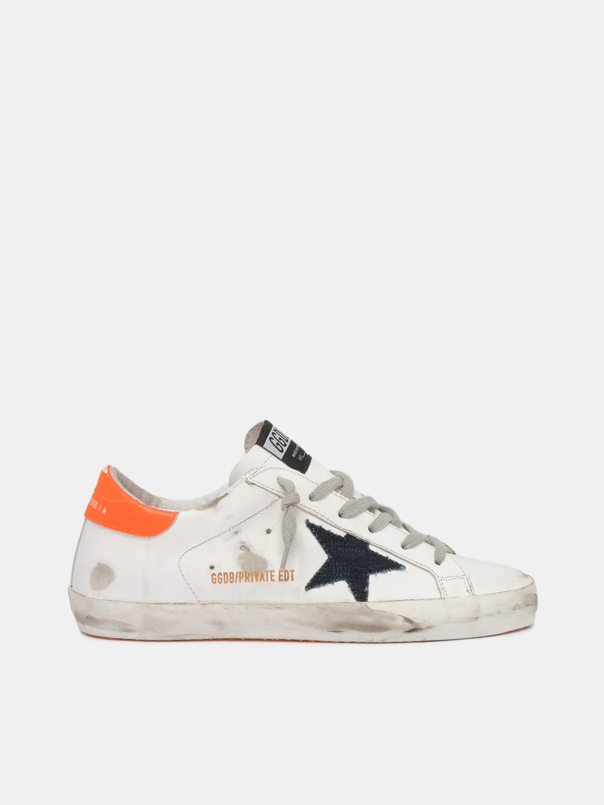 Sneakers Super-Star con talloncino arancio