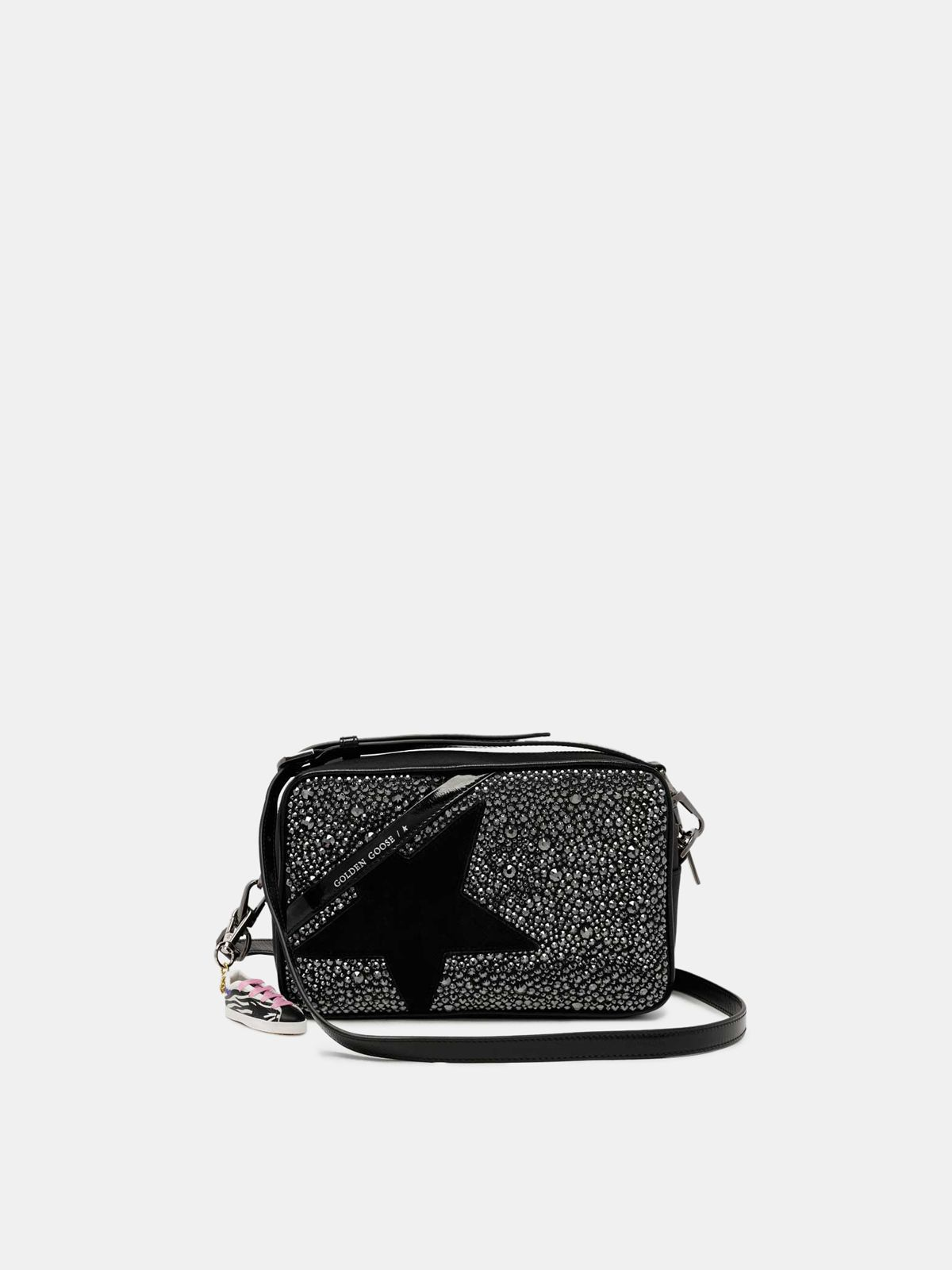 Golden Goose - Black Star Bag with crystals in