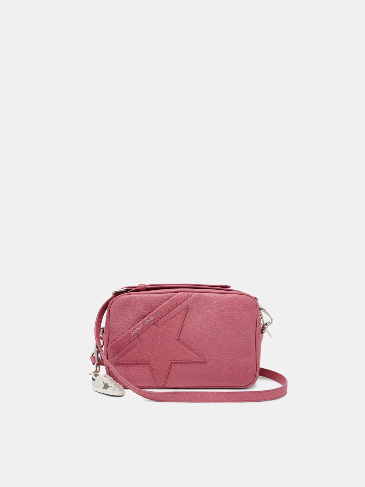 Golden Goose - Borsa Star Bag rosa a tracolla in pelle granata in
